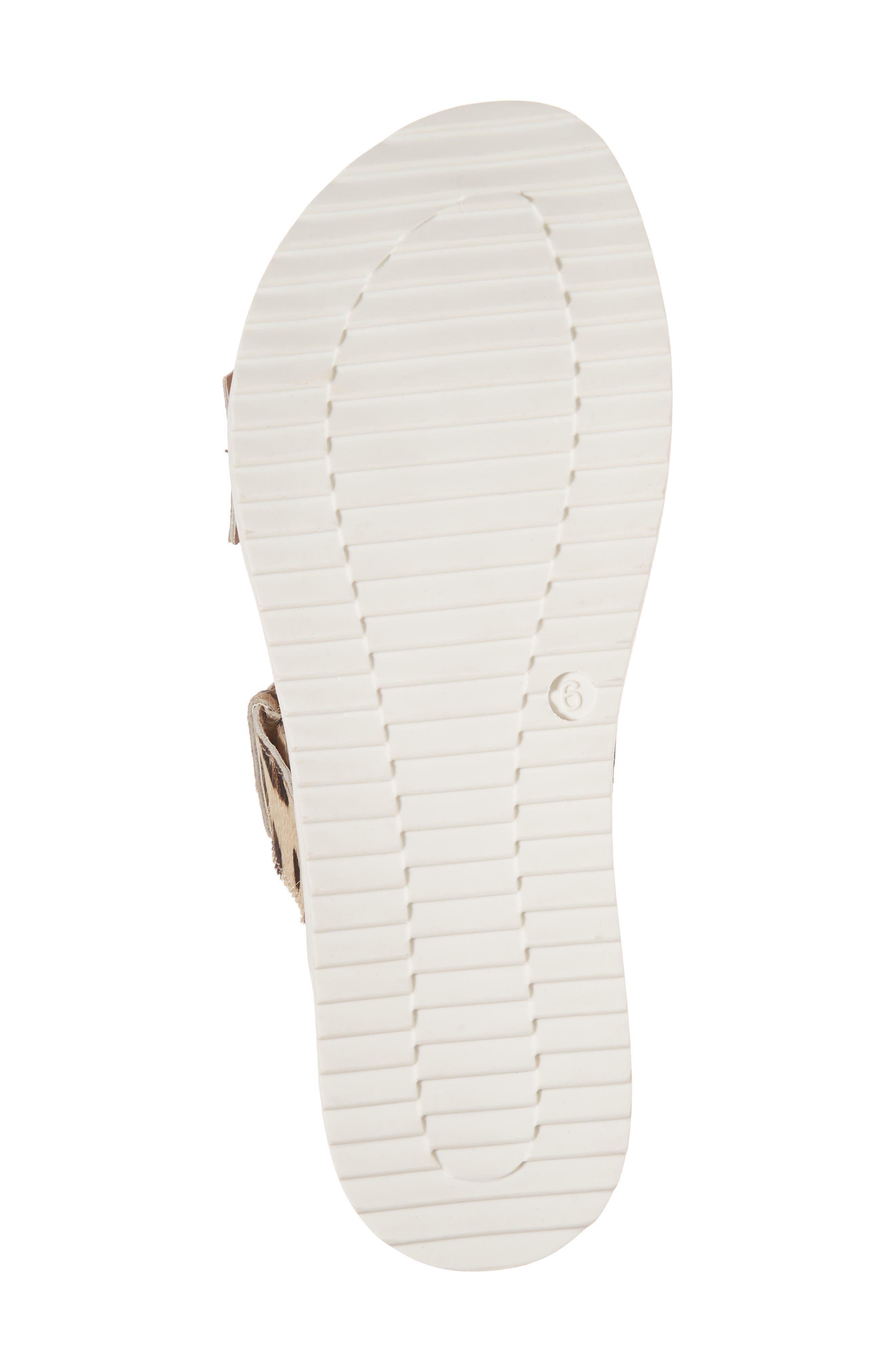 Genuine Calf Hair Double Strap Sandal,                             Alternate thumbnail 12, color,