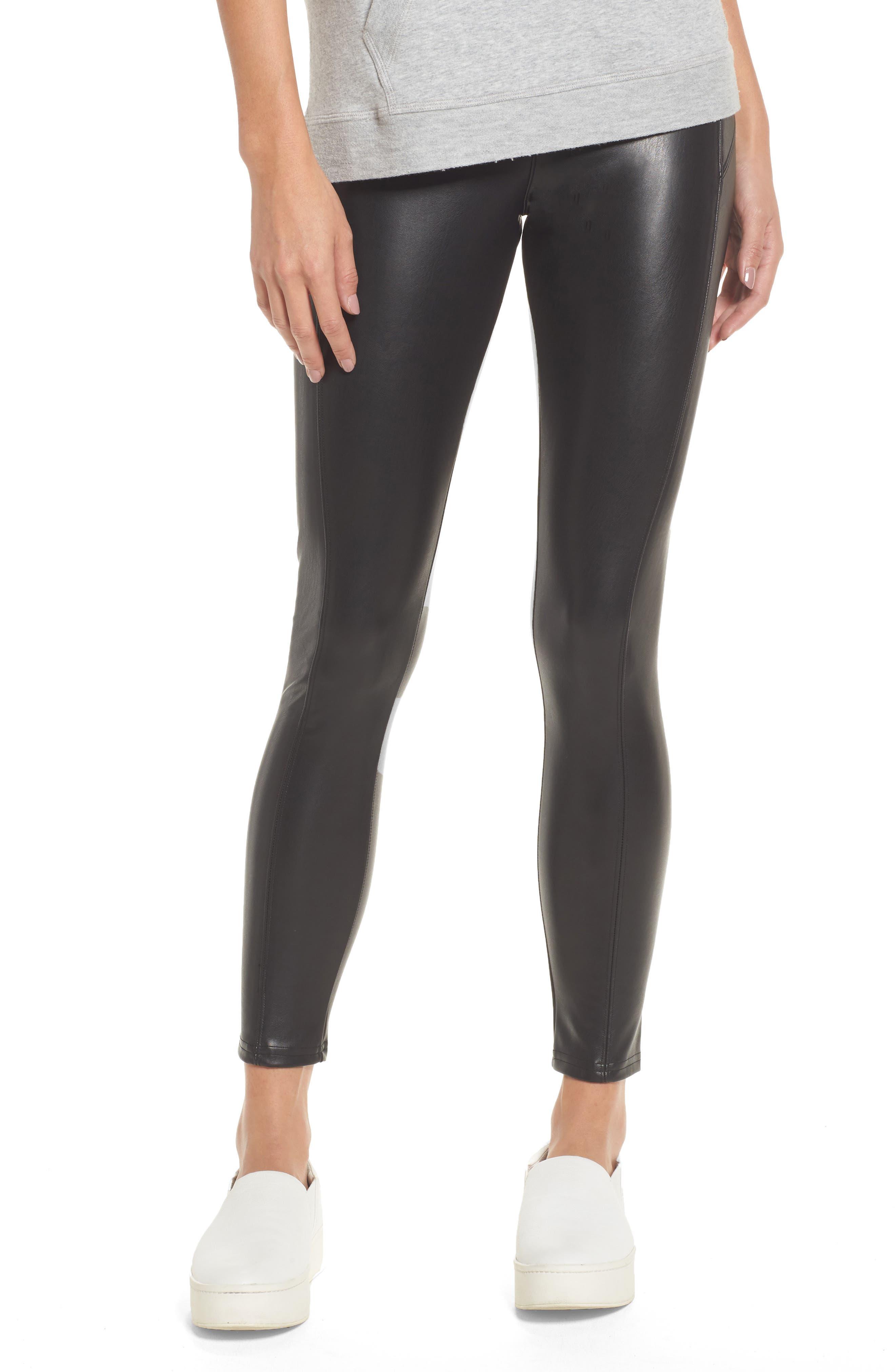 Nordstrom Faux Leather Leggings, Black