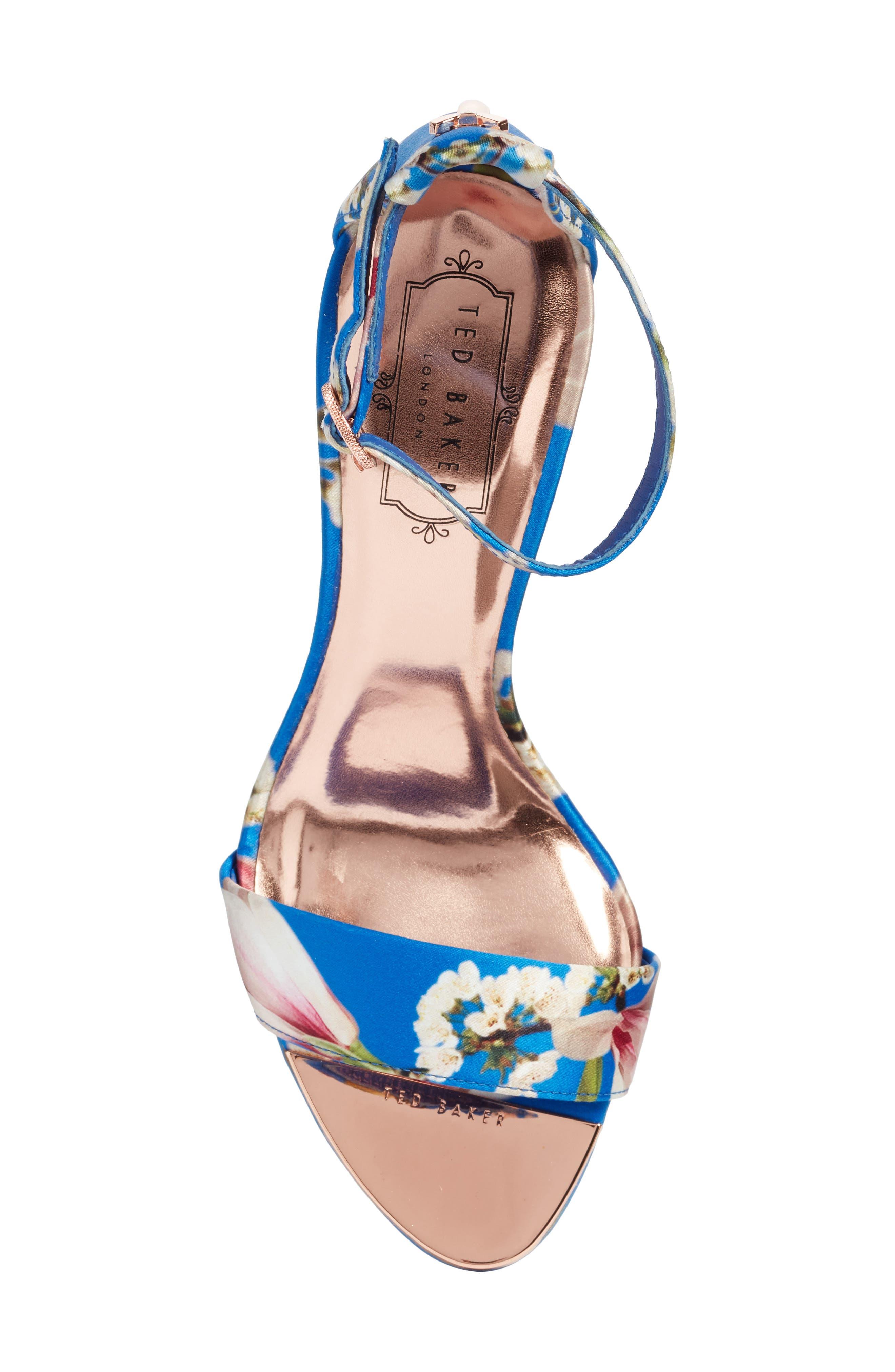 Mavbe Ankle Strap Sandal,                             Alternate thumbnail 5, color,                             BLUE HARMONY PRINT