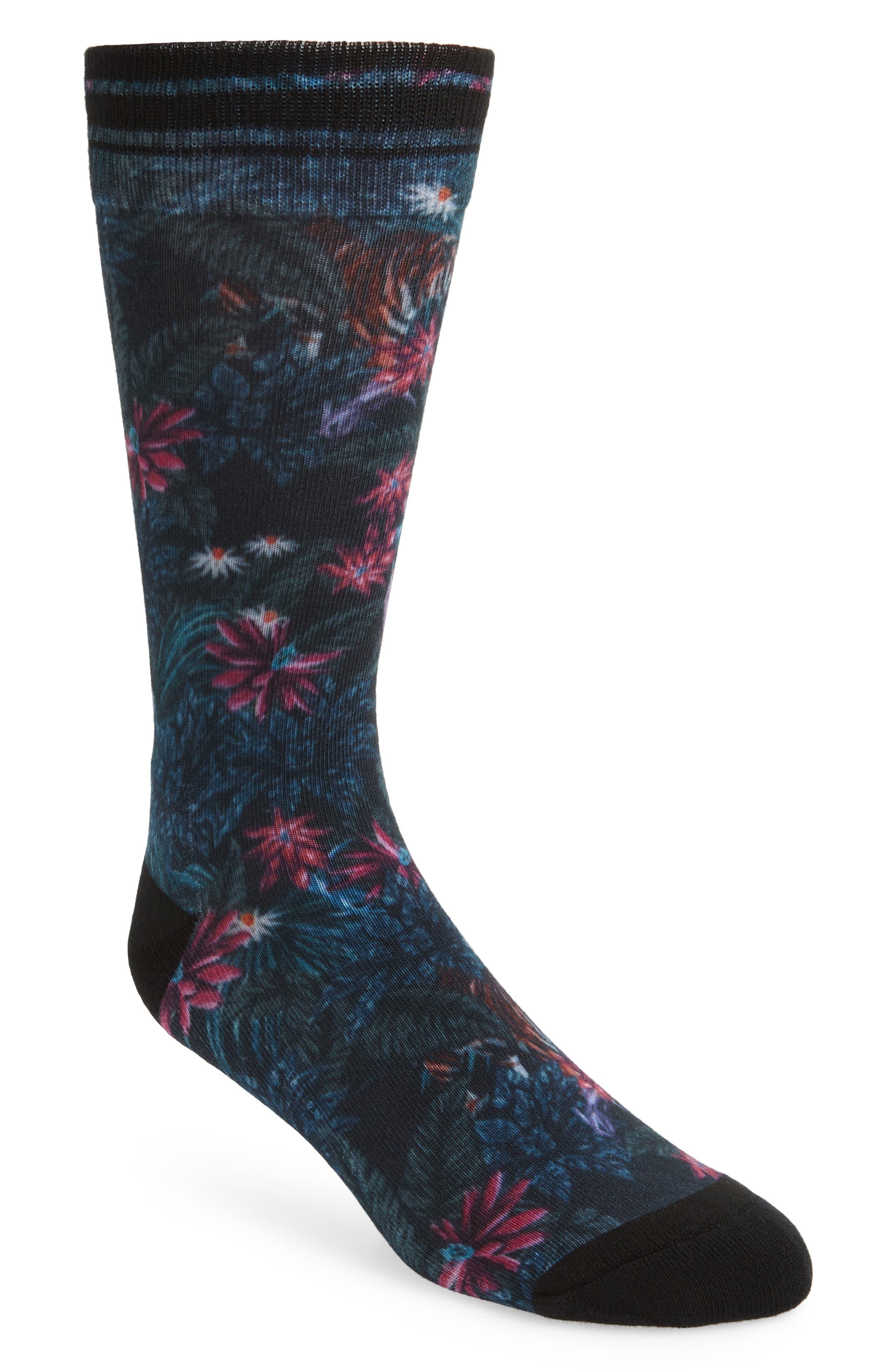 Peetra Tropical Socks,                         Main,                         color, NAVY