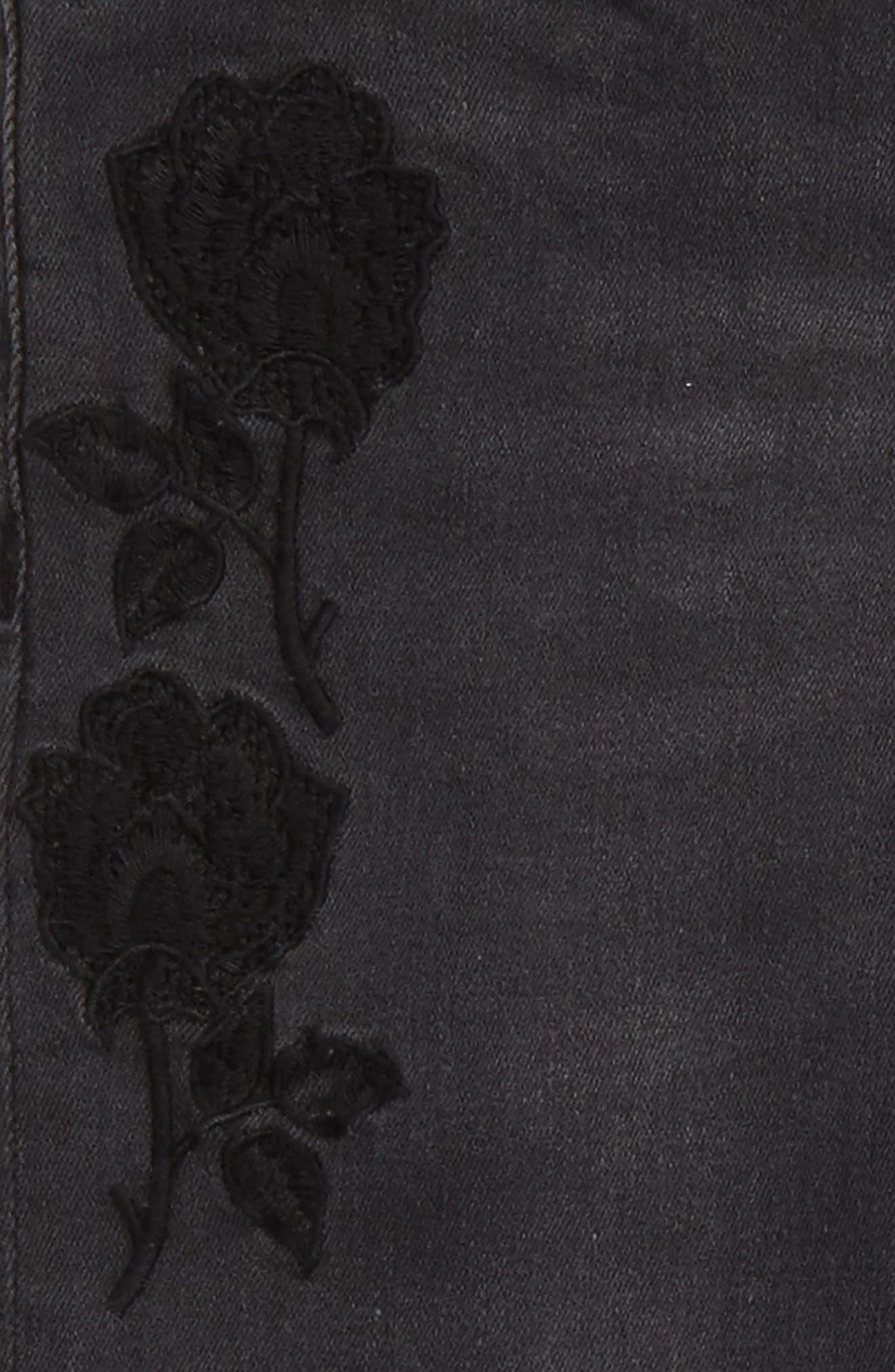 Black Iris Skinny Jeans,                             Alternate thumbnail 3, color,                             008
