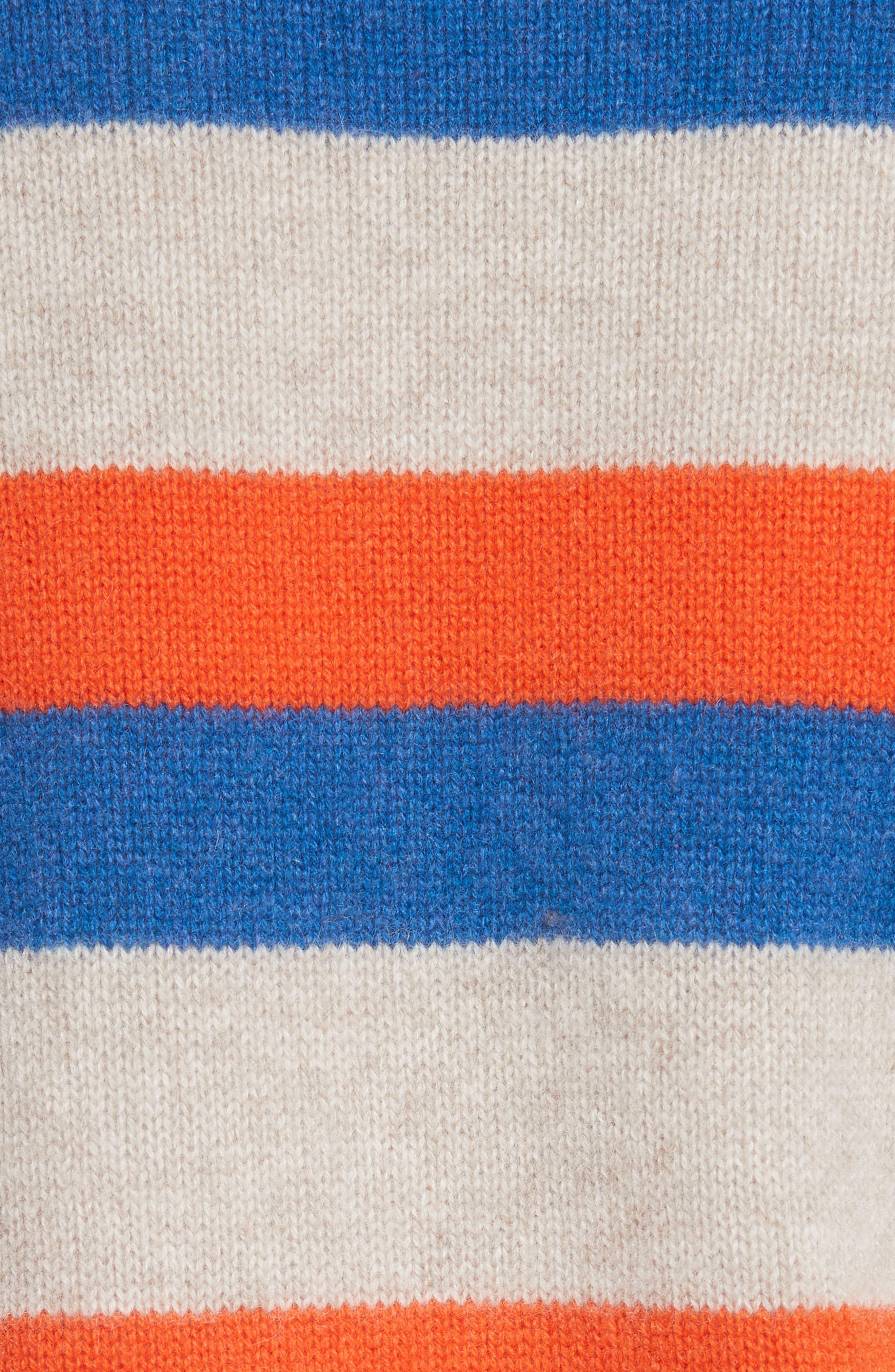 The Remus Stripe Cashmere Cardigan,                             Alternate thumbnail 5, color,                             SAND