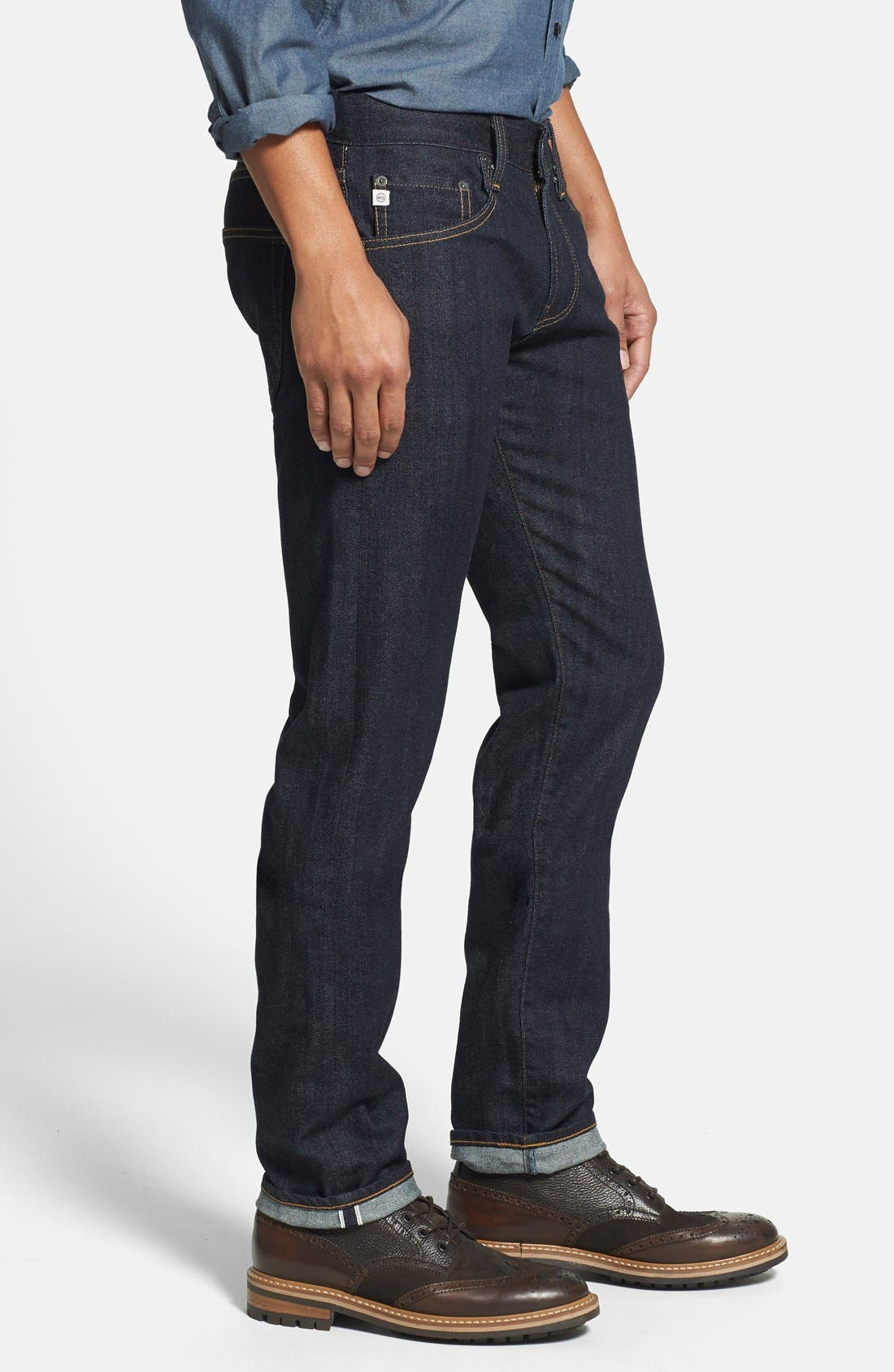 AG,                             'Nomad' Skinny Fit Selvedge Jeans,                             Alternate thumbnail 3, color,                             405