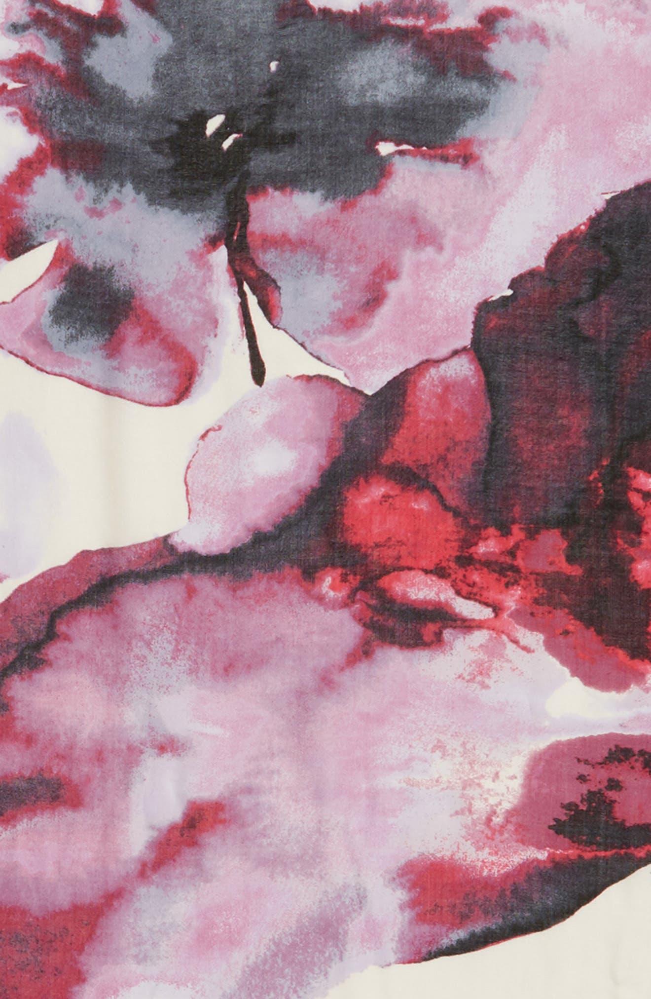 Eyelash Trim Print Cashmere & Silk Wrap,                             Alternate thumbnail 104, color,