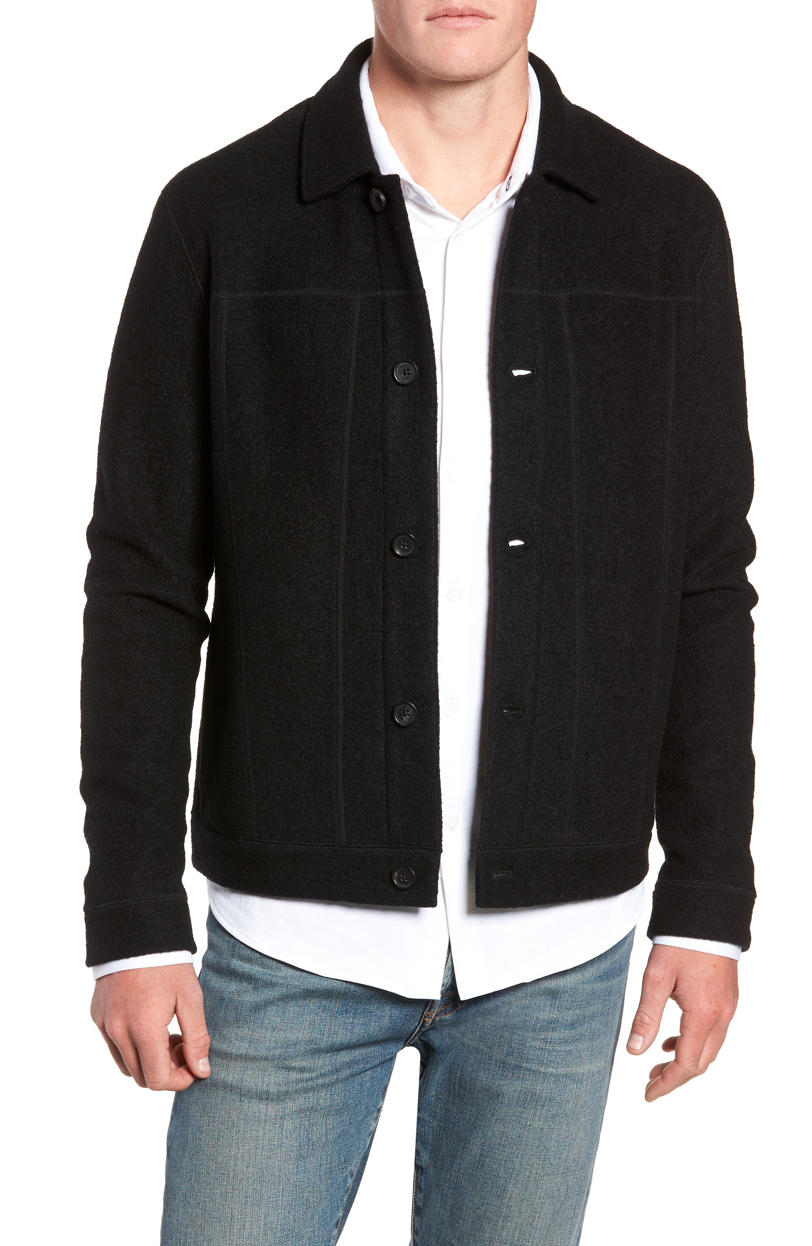 Eastwood Wool Blend Jacket,                             Main thumbnail 1, color,                             BLACK