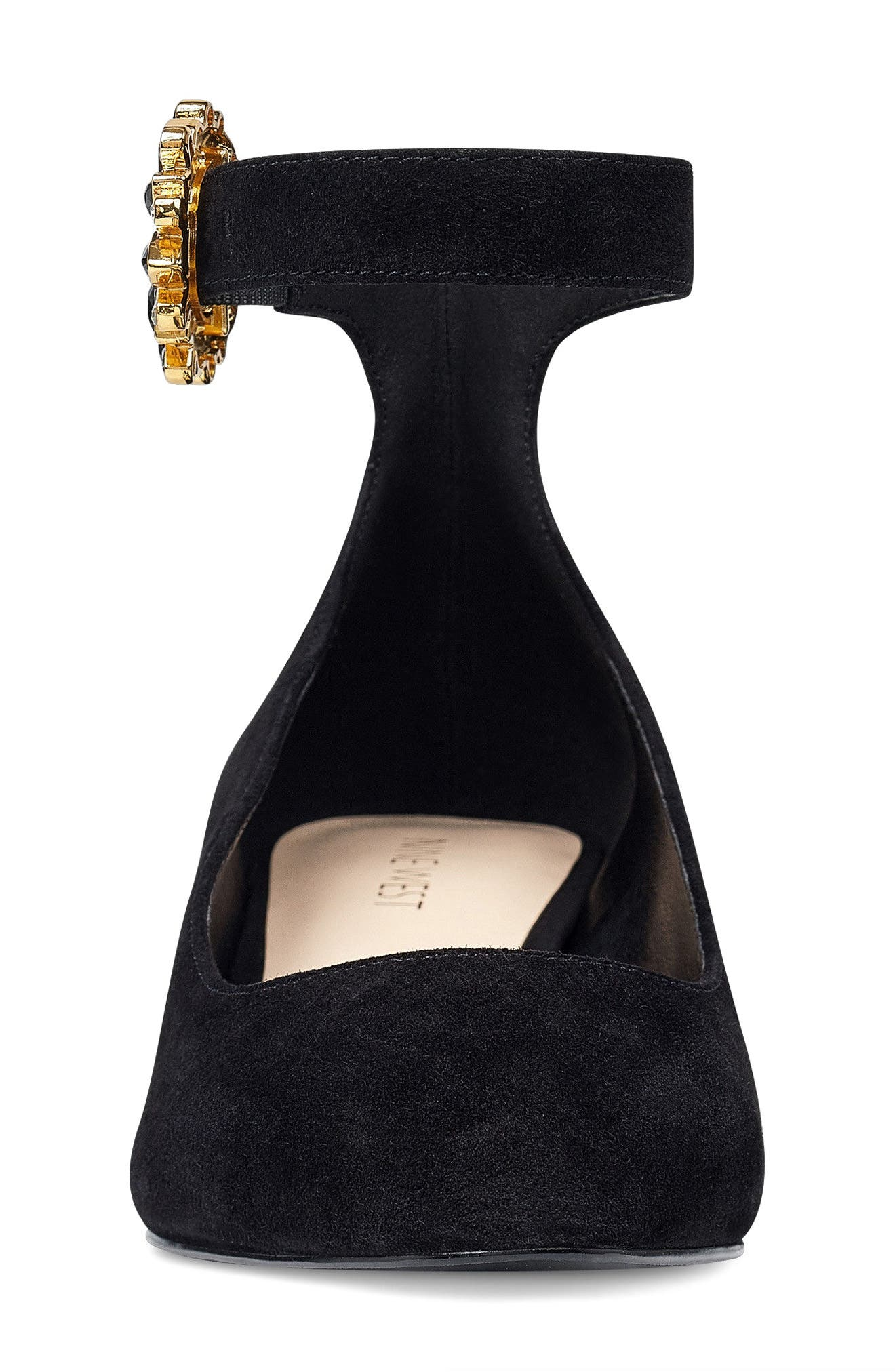 Bartly Ankle Strap Pump,                             Alternate thumbnail 4, color,                             001