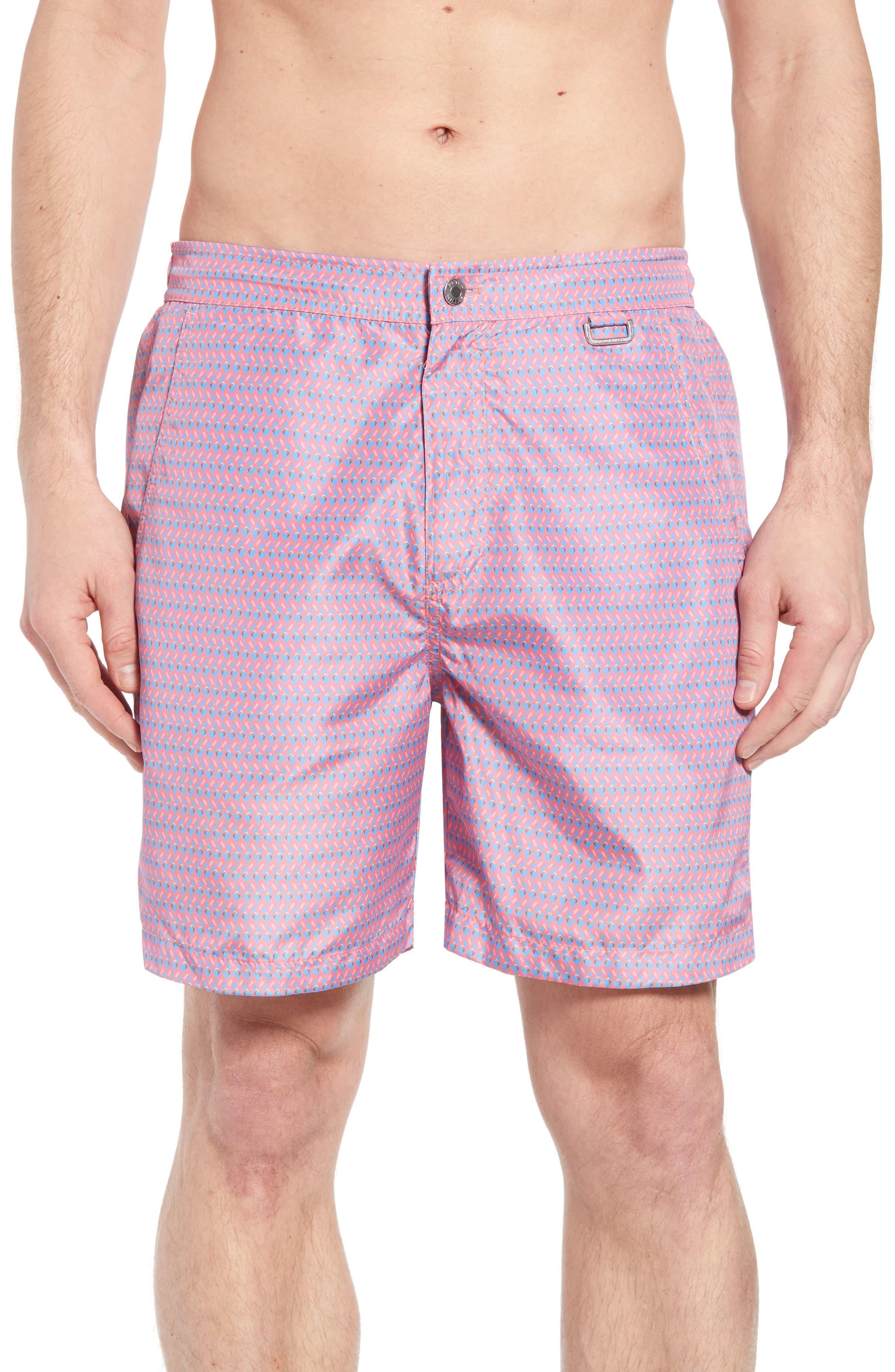 Wakka Flokka Flamingos Swim Trunks,                         Main,                         color,