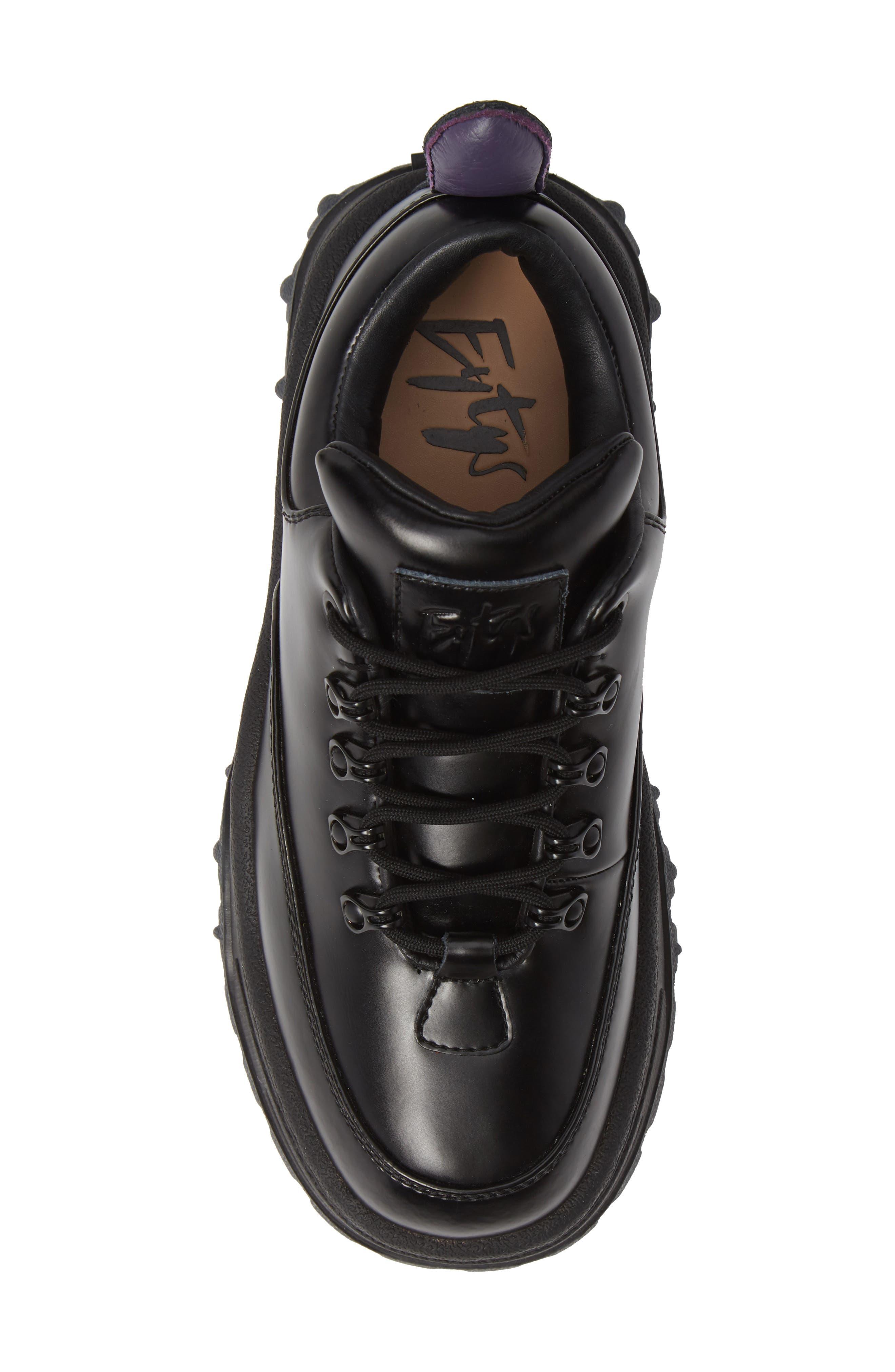 Angel Lug Sole Sneaker,                             Alternate thumbnail 5, color,                             BLACK