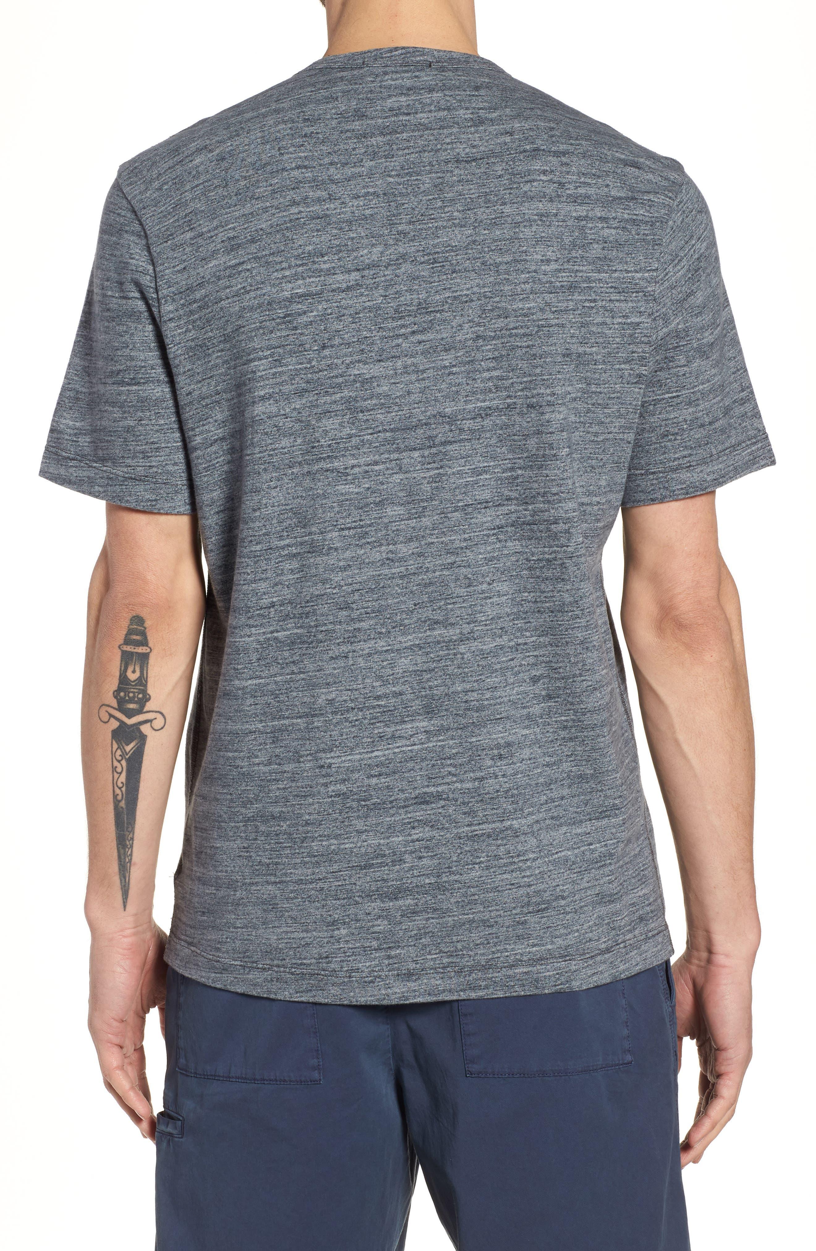 Regular Fit Top Dyed Crewneck T-Shirt,                             Alternate thumbnail 4, color,