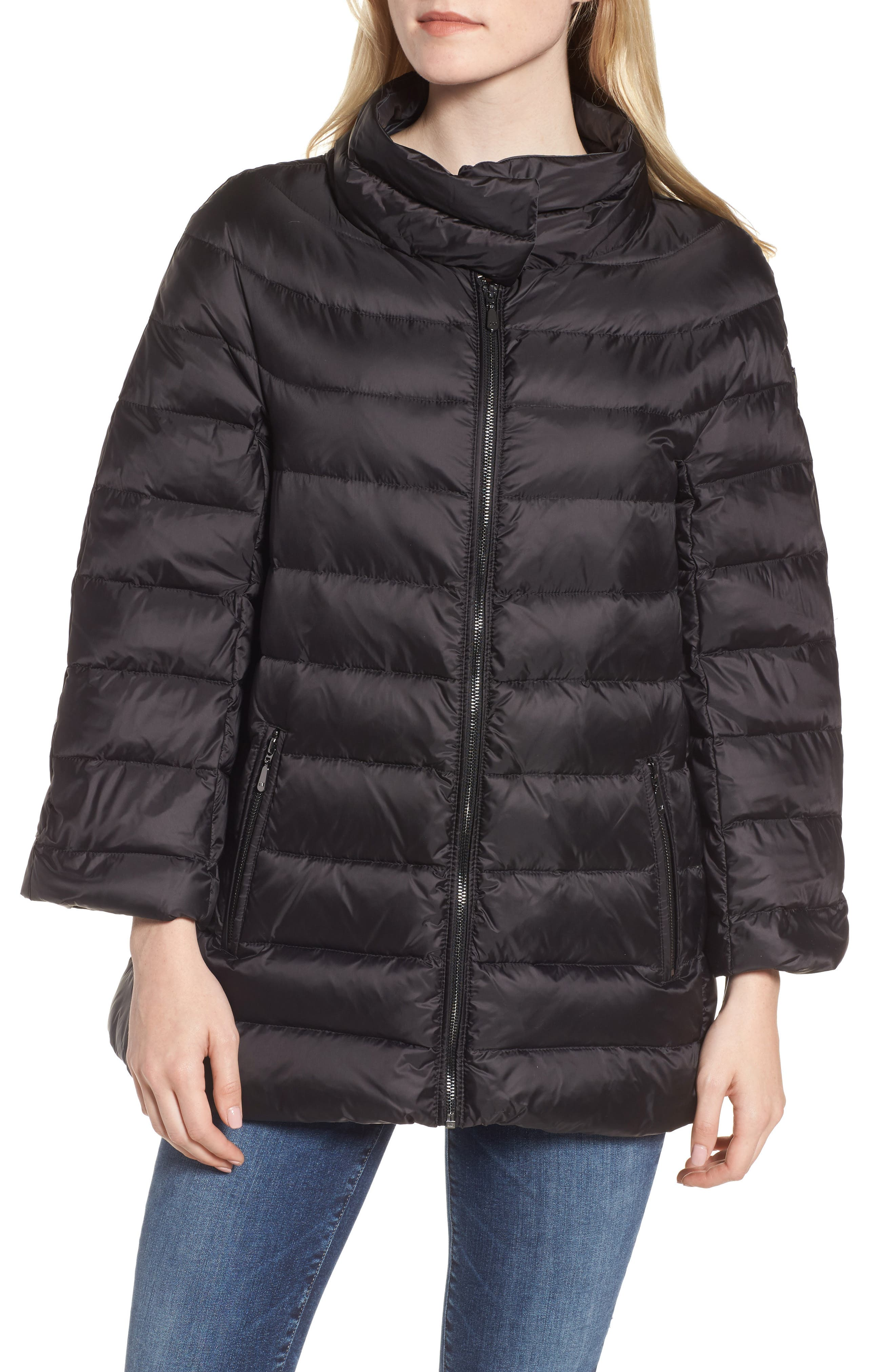 3-in-1 Layered Packable Quilted Down Coat,                             Alternate thumbnail 3, color,