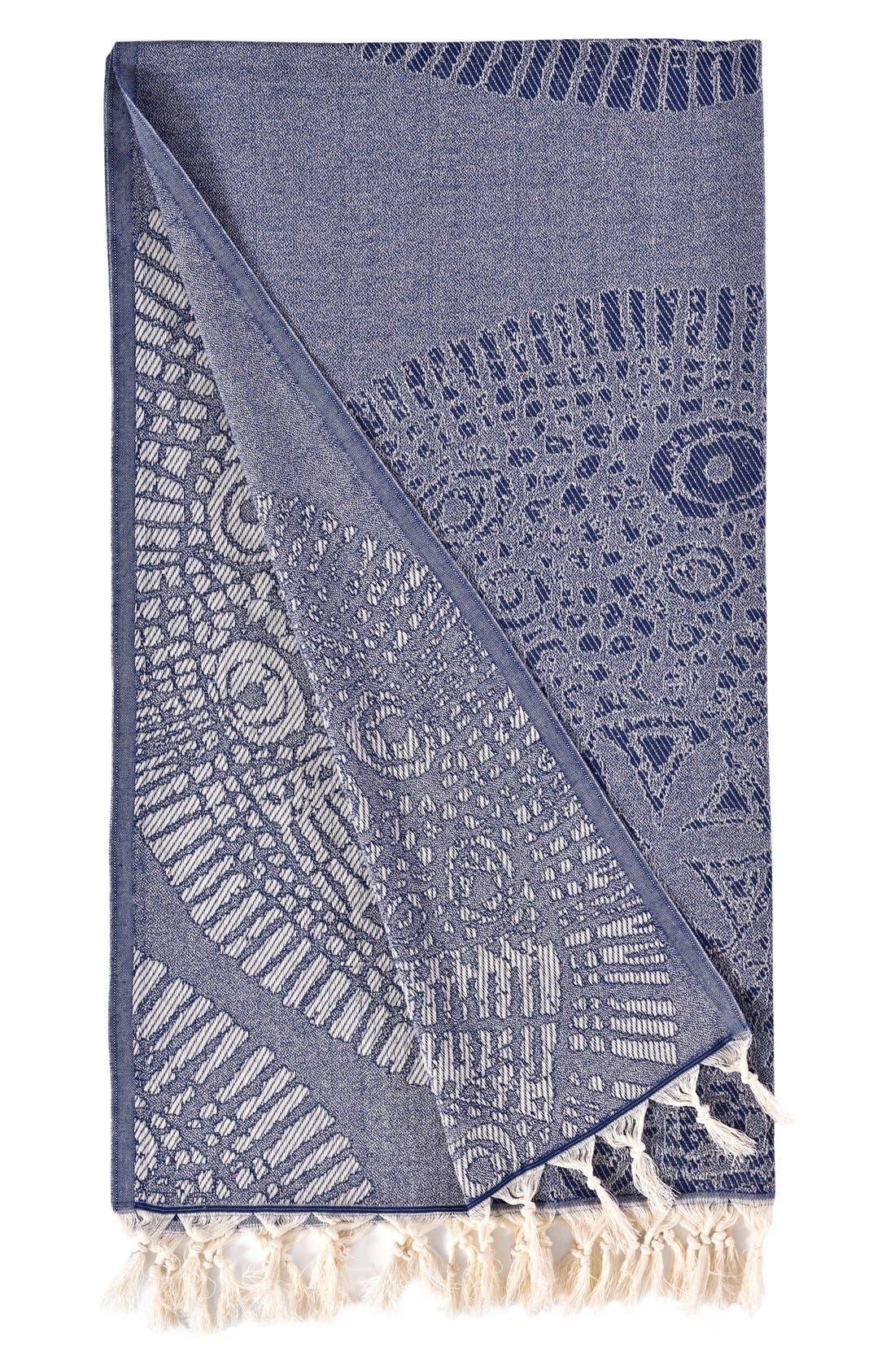 Anatolian Turkish Pestemal Beach Towel,                             Alternate thumbnail 2, color,                             400