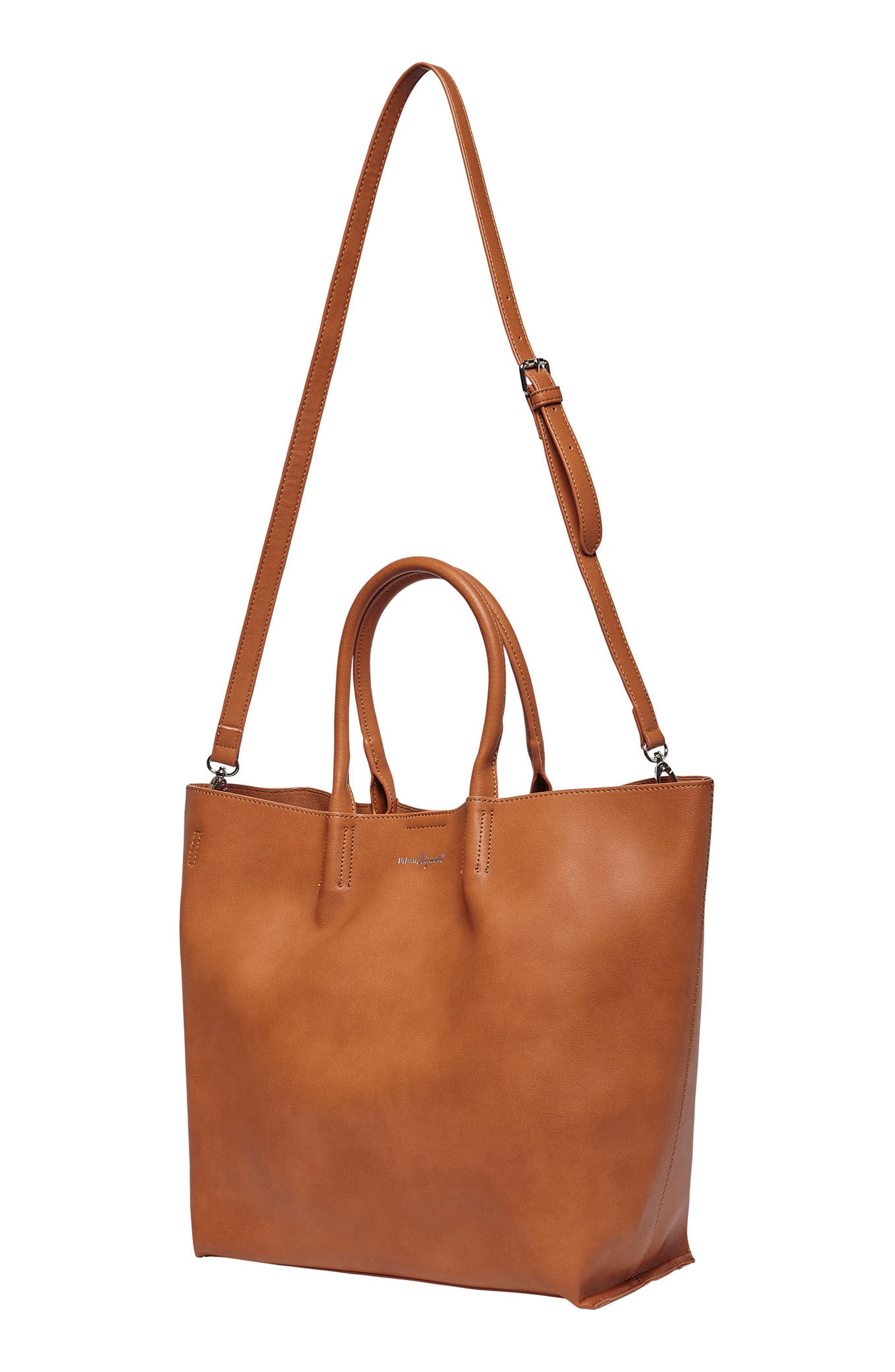 Butterfly Vegan Leather Tote,                             Alternate thumbnail 4, color,