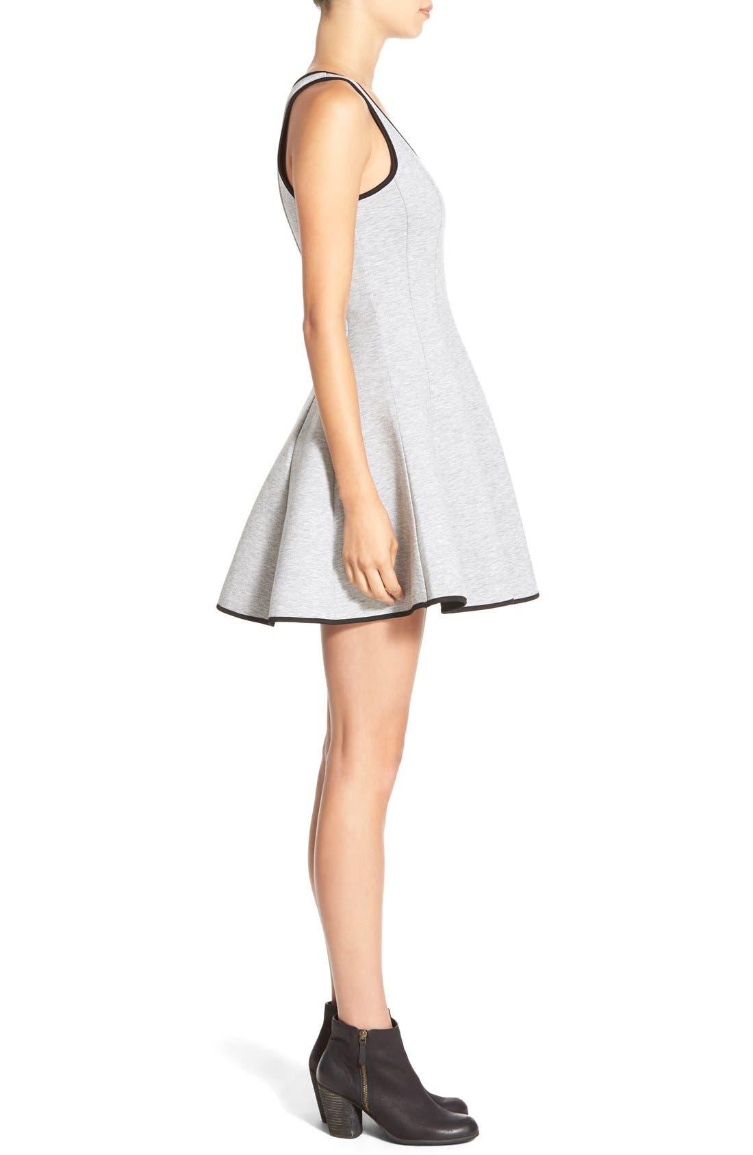 ModisteDresses Knit Fit & Flare Dress,                             Alternate thumbnail 3, color,                             020