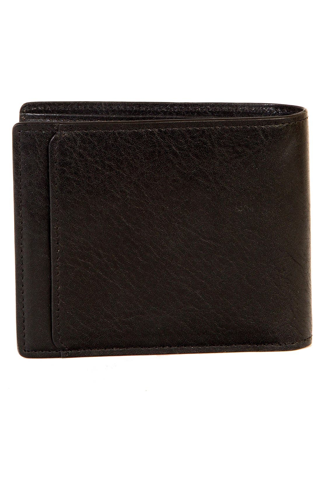 BOCONI,                             'Becker' RFID Leather Wallet,                             Alternate thumbnail 2, color,                             BLACK