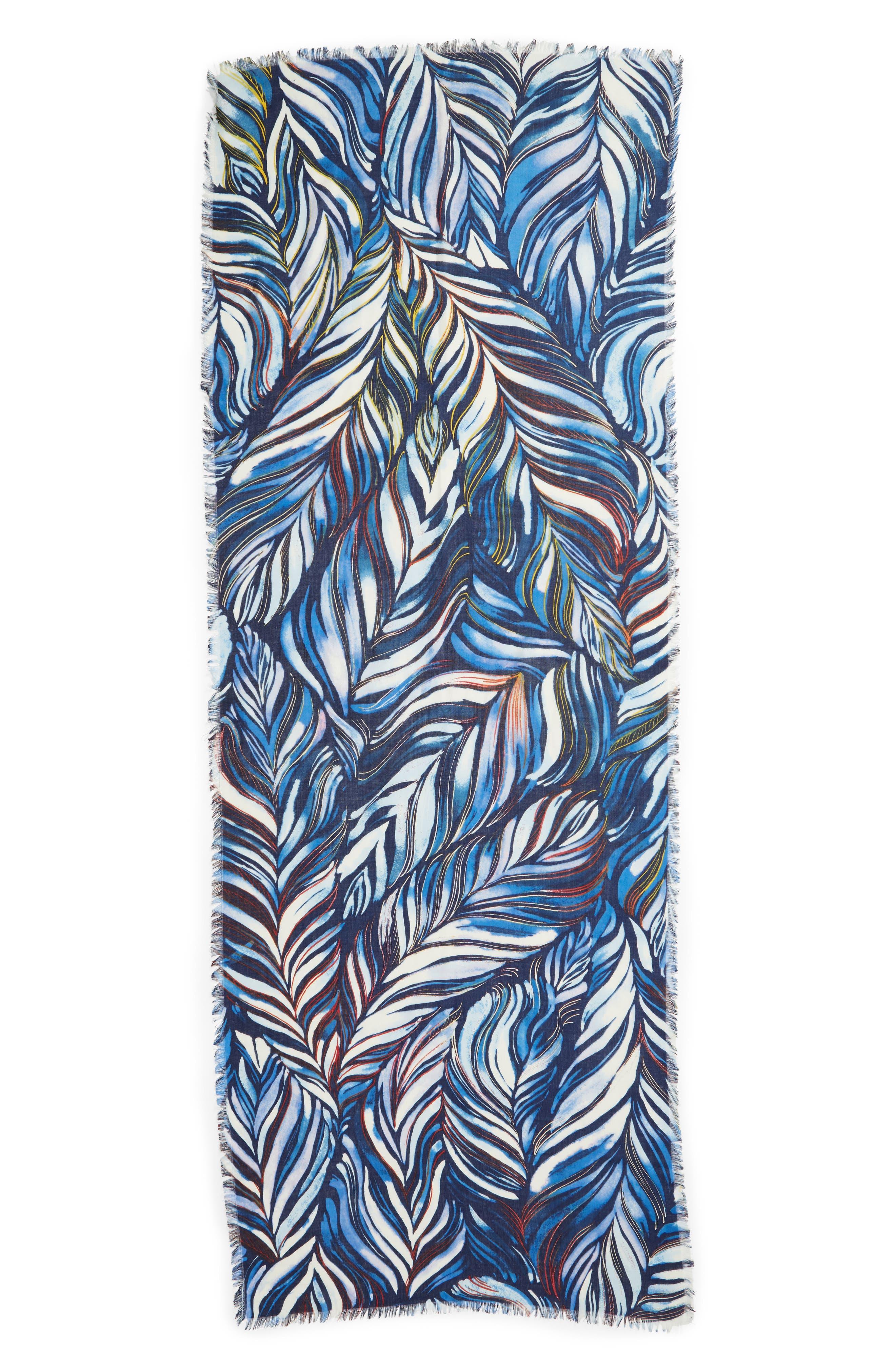 Eyelash Trim Print Cashmere & Silk Wrap,                             Alternate thumbnail 40, color,