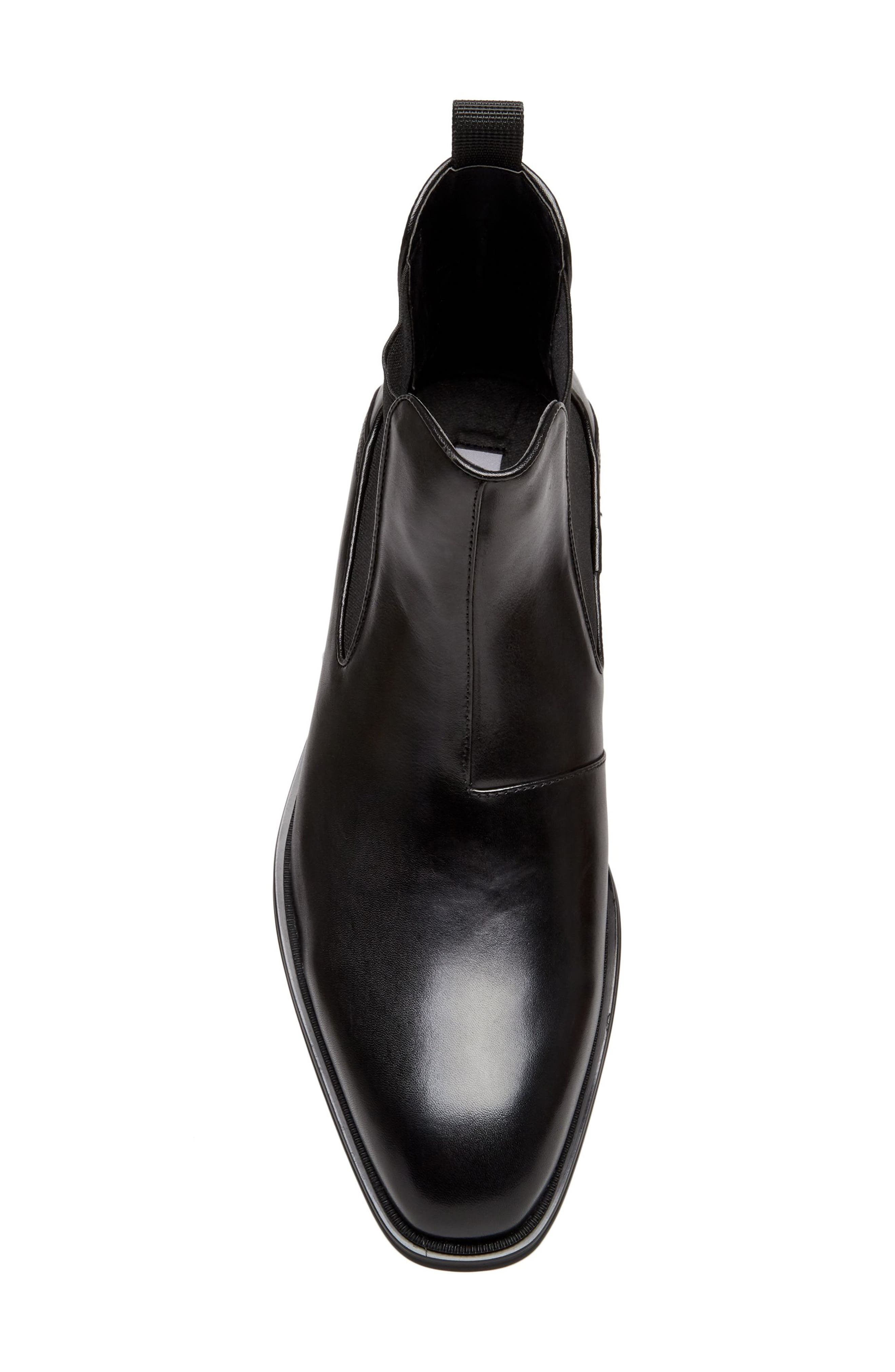 Malice Chelsea Boot,                             Alternate thumbnail 5, color,                             BLACK LEATHER