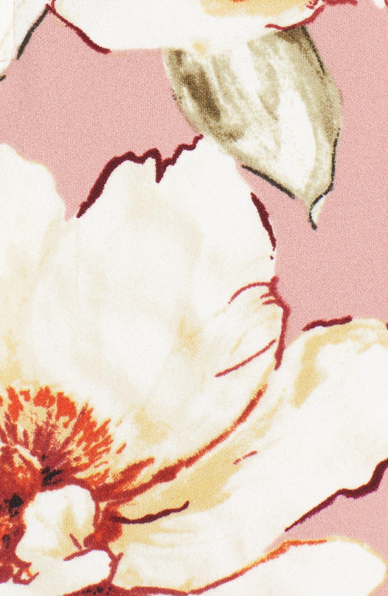 Floral Print Off the Shoulder A-Line Dress,                             Alternate thumbnail 5, color,