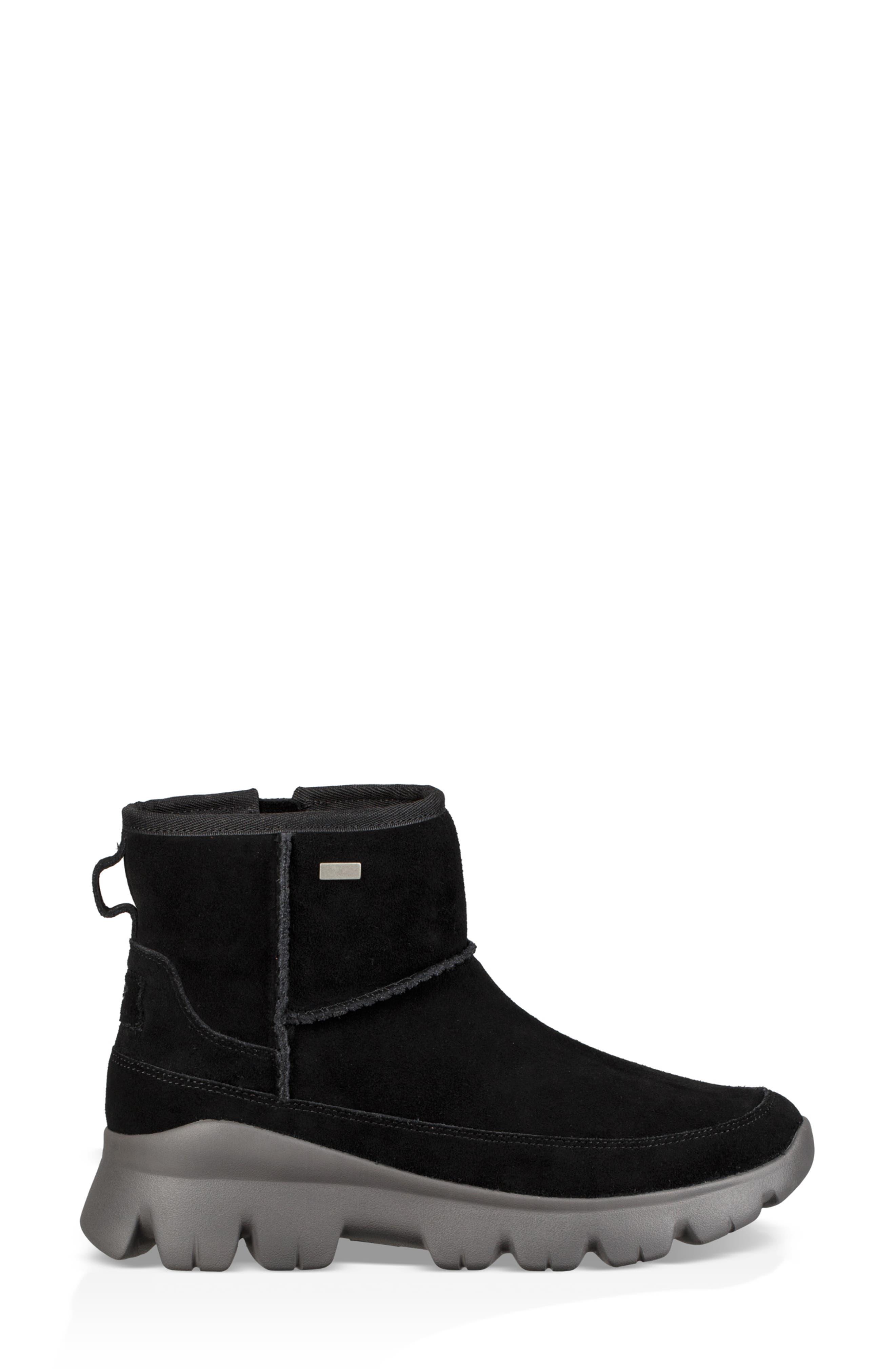 Palomar Waterproof Sneaker Bootie,                             Alternate thumbnail 3, color,                             BLACK/ CHARCOAL SUEDE
