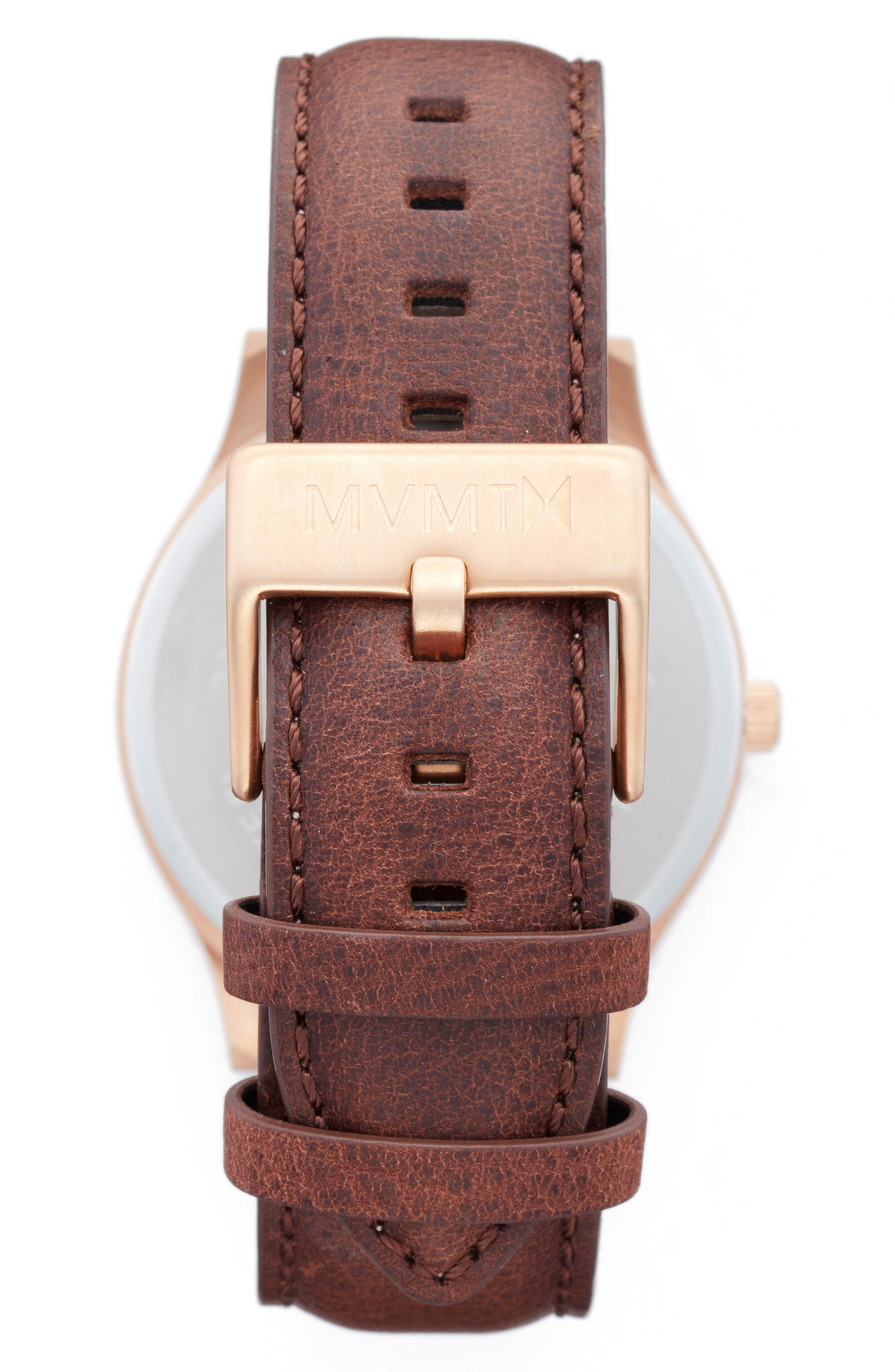 The 40 Leather Strap Watch, 40mm,                             Alternate thumbnail 2, color,                             200