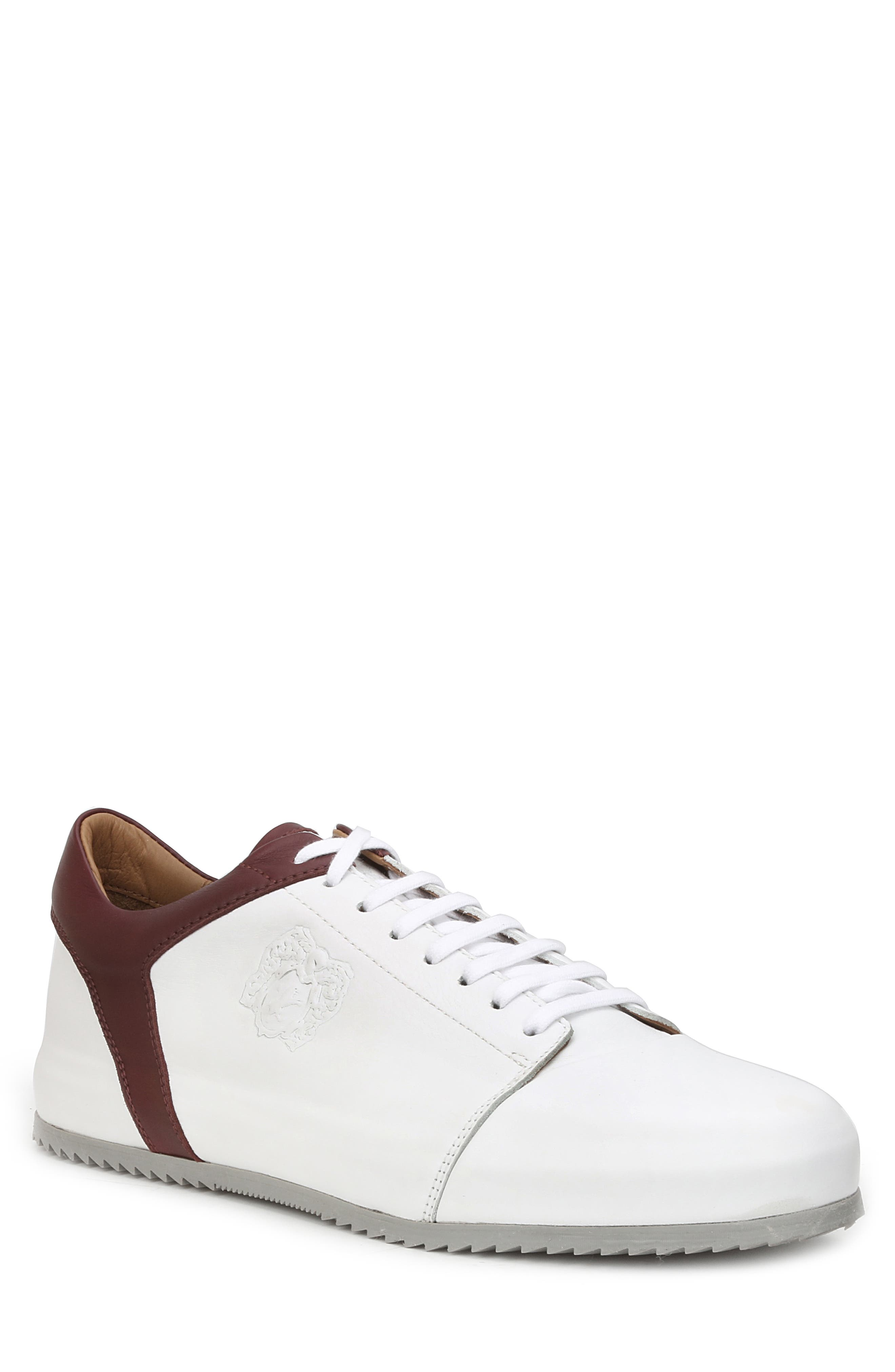 Santana Sneaker,                         Main,                         color, WHITE/ BORDEAUX