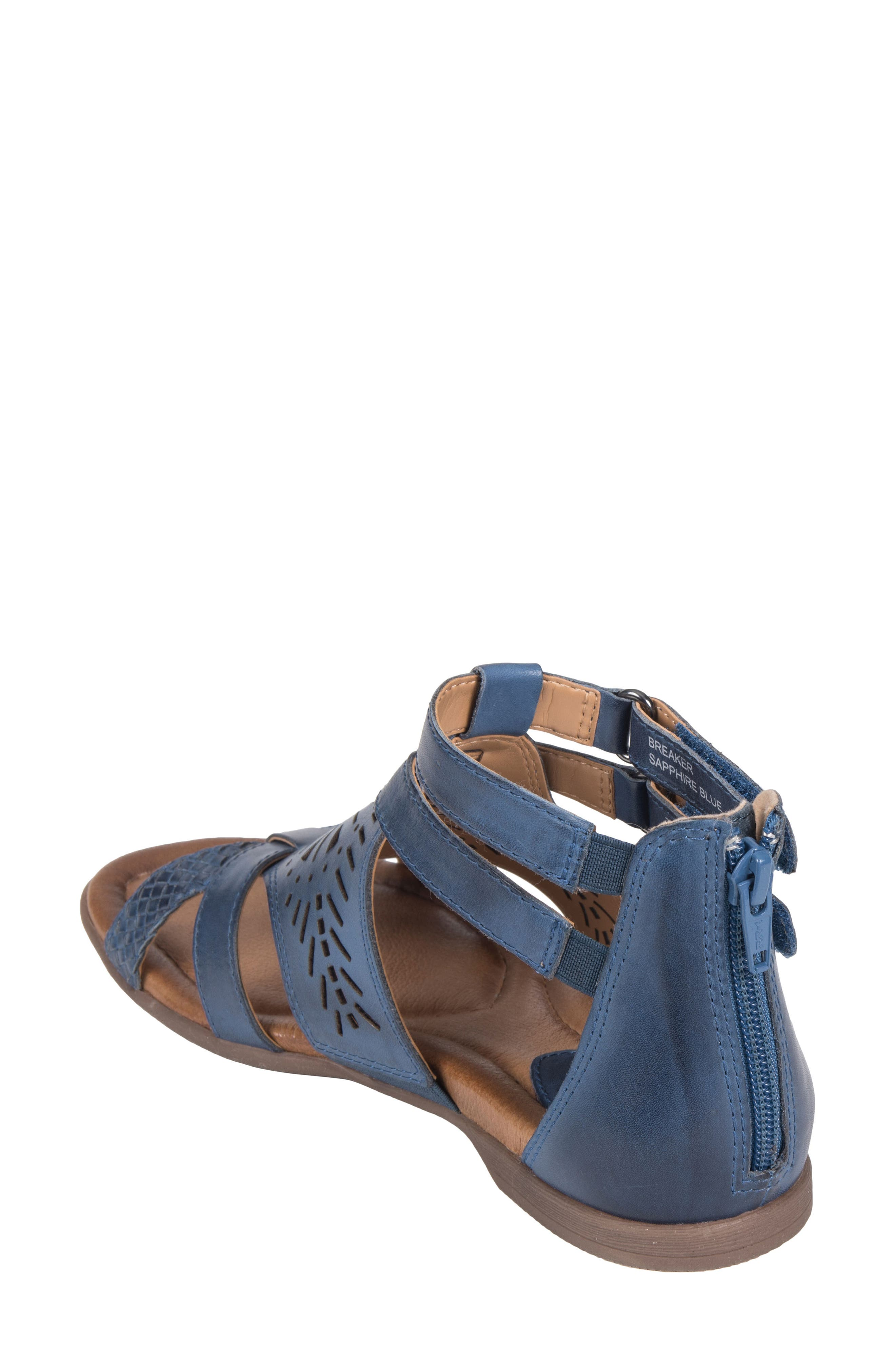Breaker Sandal,                             Alternate thumbnail 2, color,                             SAPPHIRE BLUE LEATHER