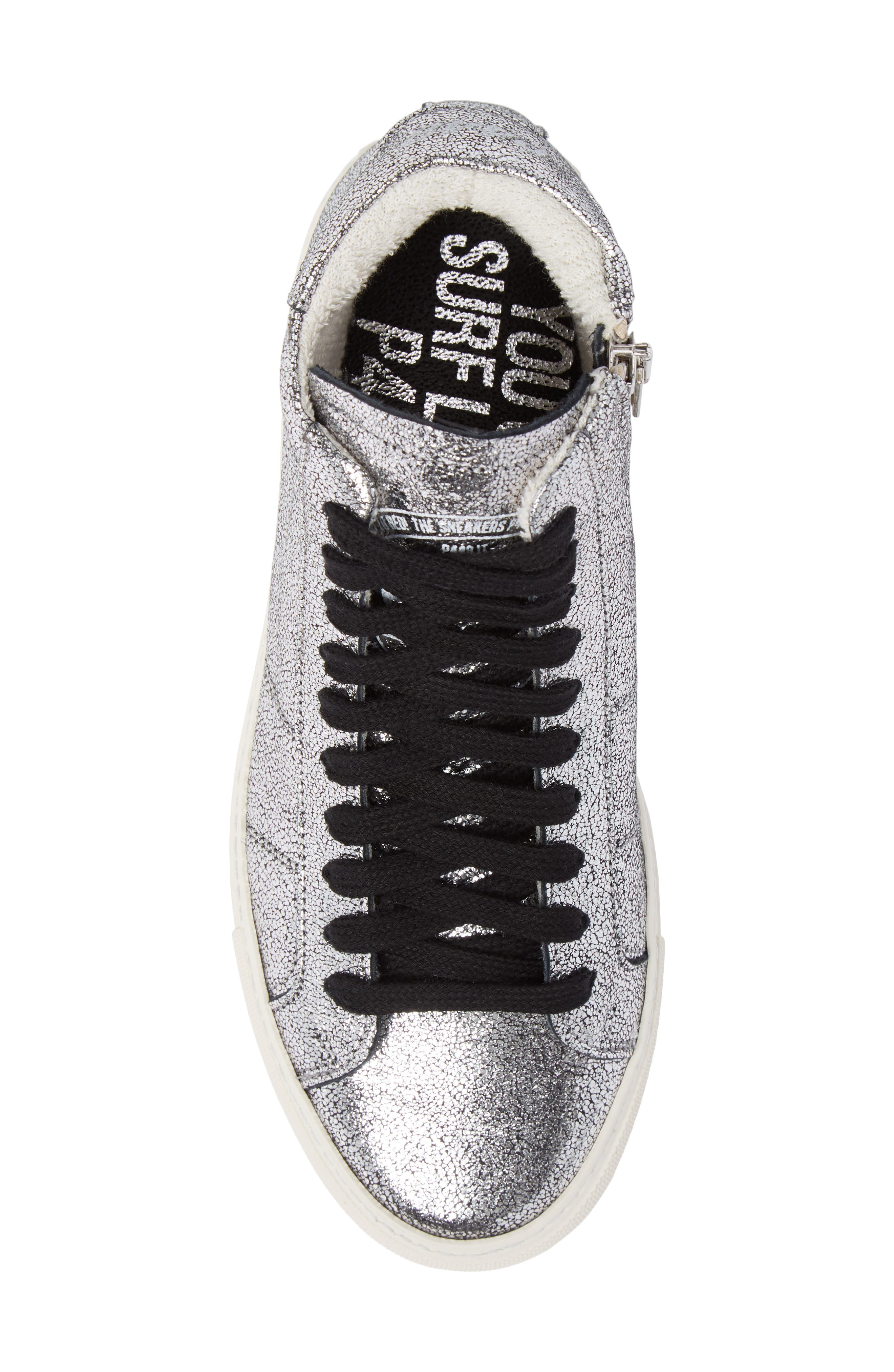 Star 2.0 Sneaker,                             Alternate thumbnail 5, color,                             SILVER LEATHER