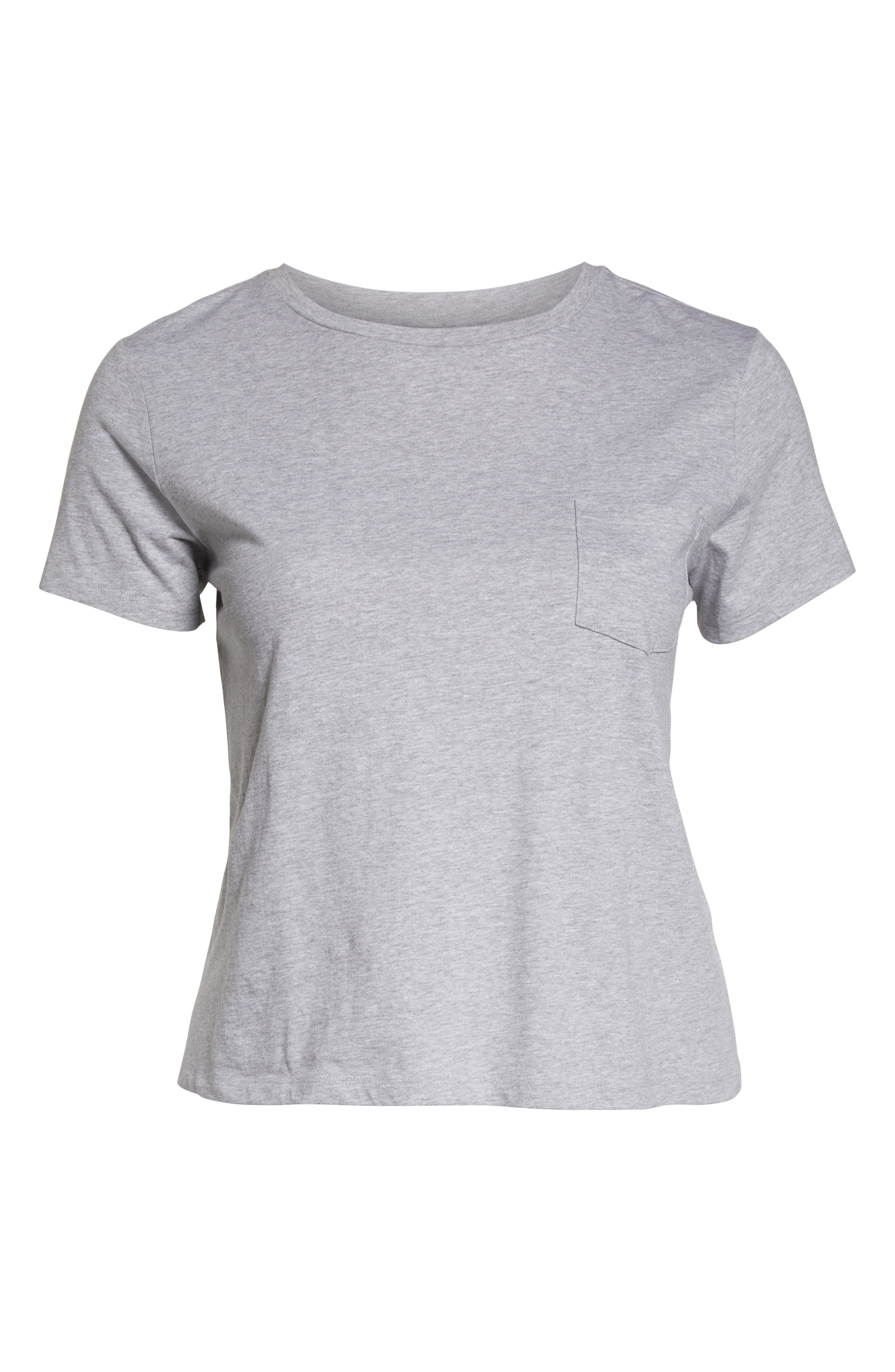 Pocket Crewneck Tee,                             Alternate thumbnail 6, color,                             GREY PEARL HEATHER