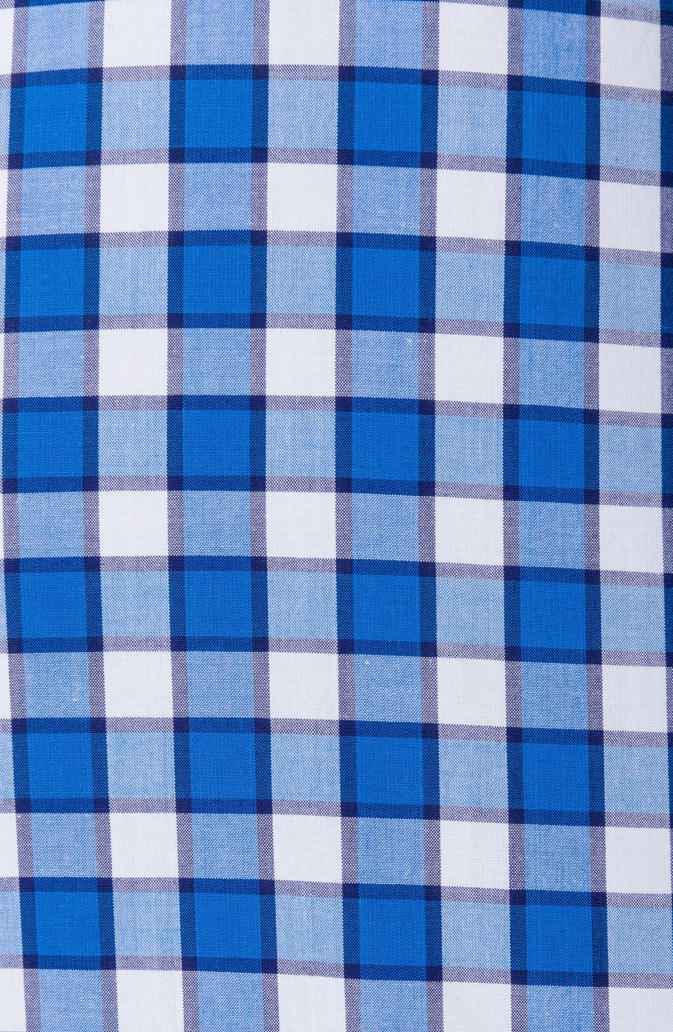 Cedarwood Regular Fit Sport Shirt,                             Alternate thumbnail 4, color,                             AZURE