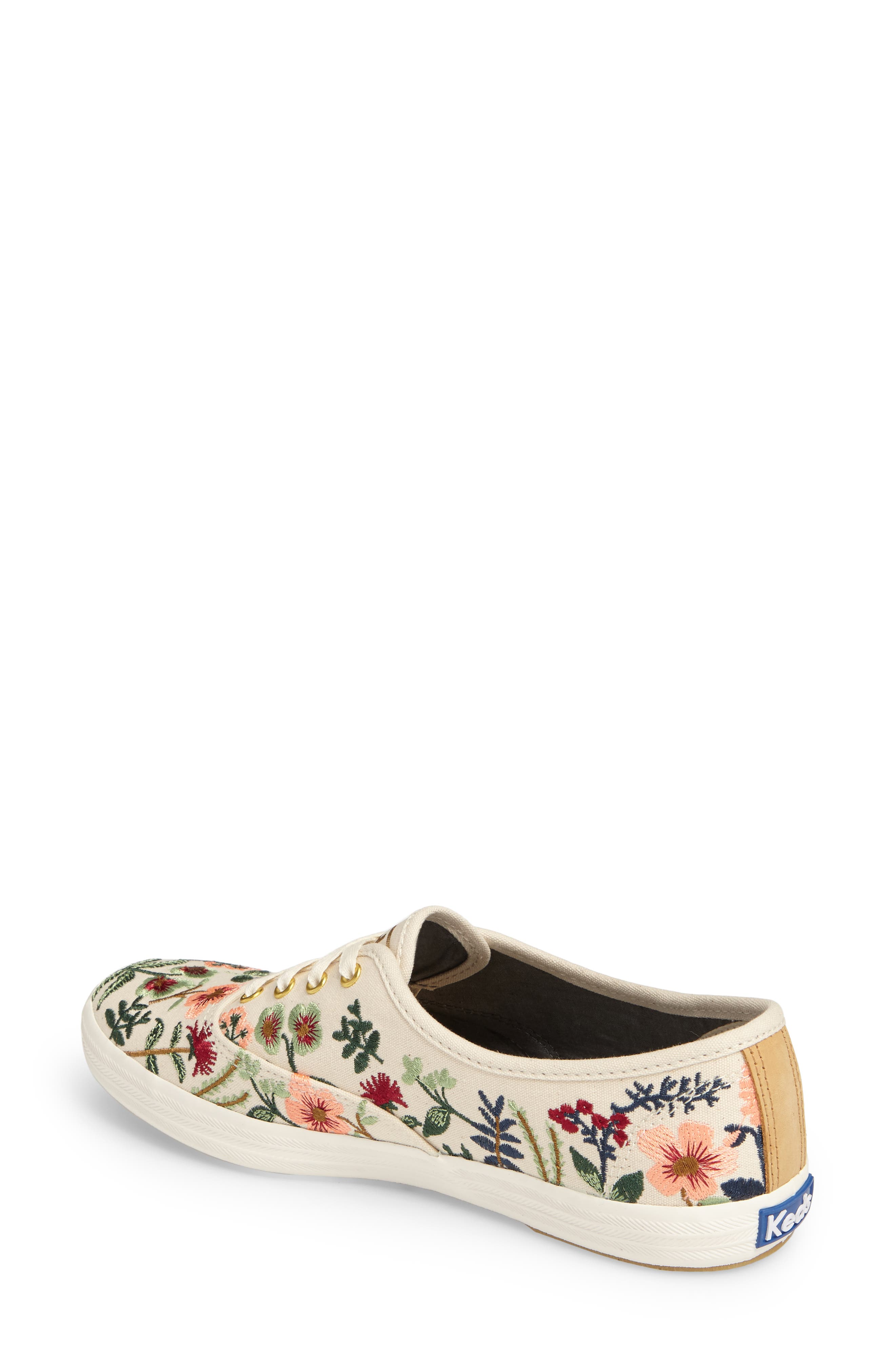 x Rifle Paper Co. Herb Garden Embroidered Sneaker,                             Alternate thumbnail 2, color,                             101