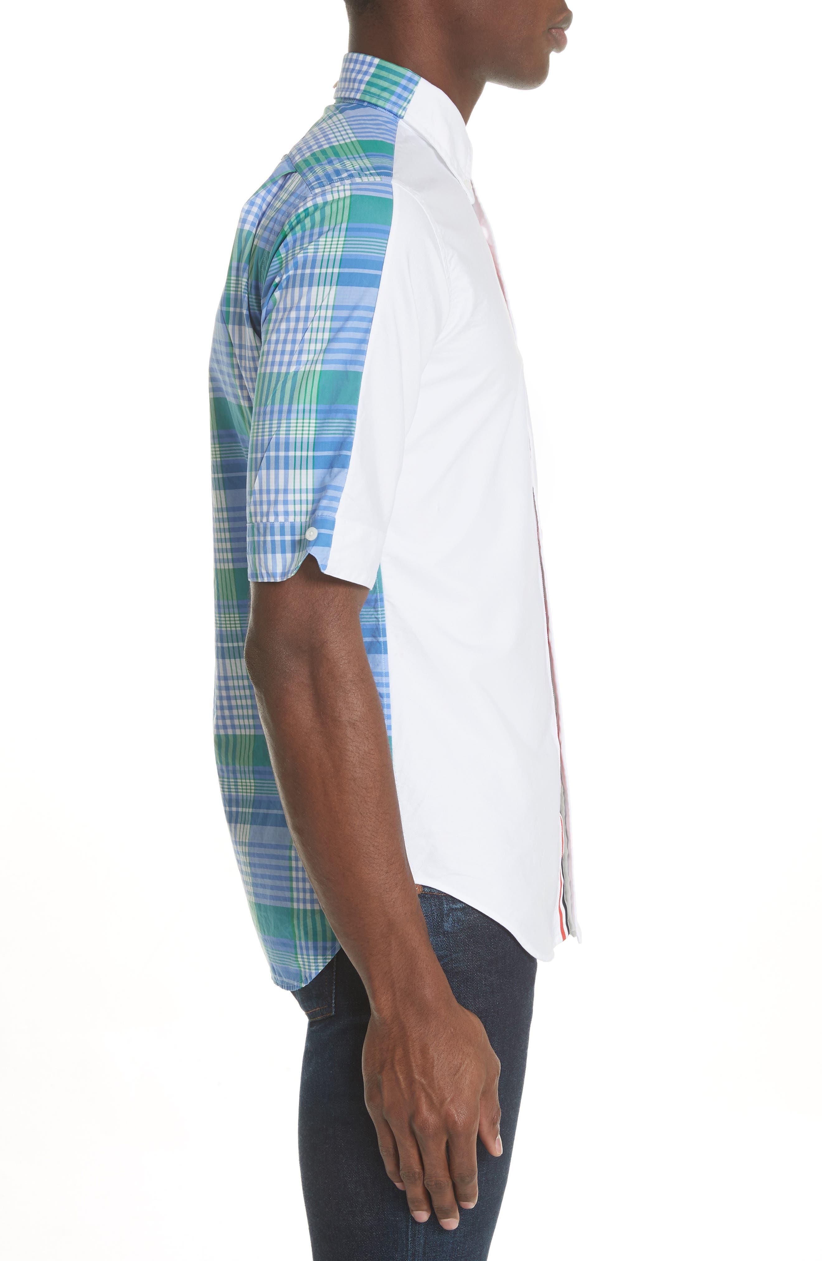 Solid & Plaid Woven Shirt,                             Alternate thumbnail 3, color,                             470