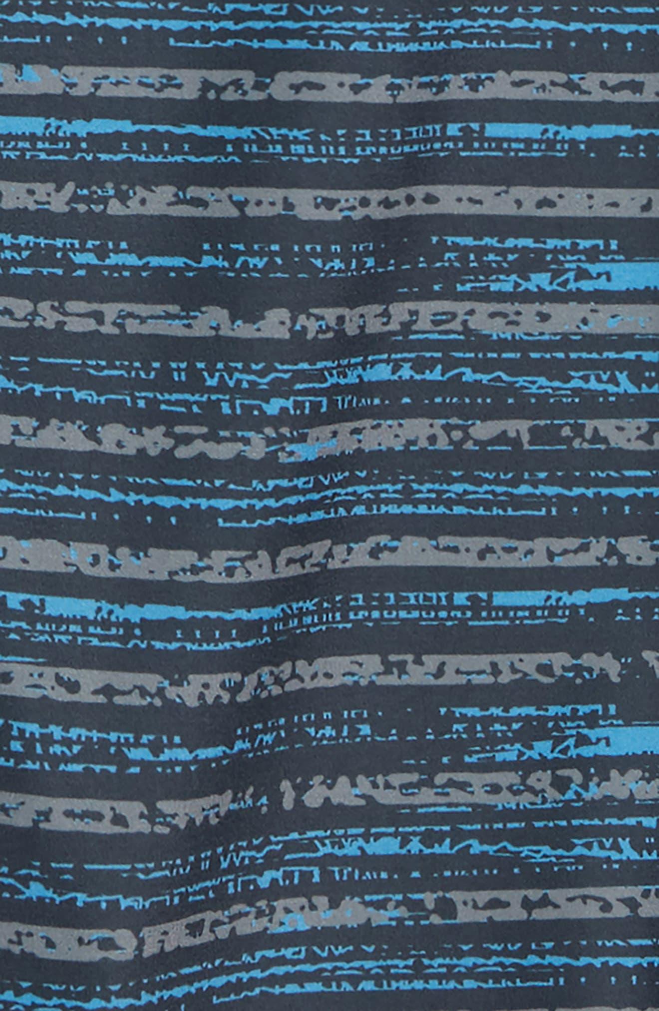 Static Stripe Board Shorts,                             Alternate thumbnail 2, color,                             BLUE