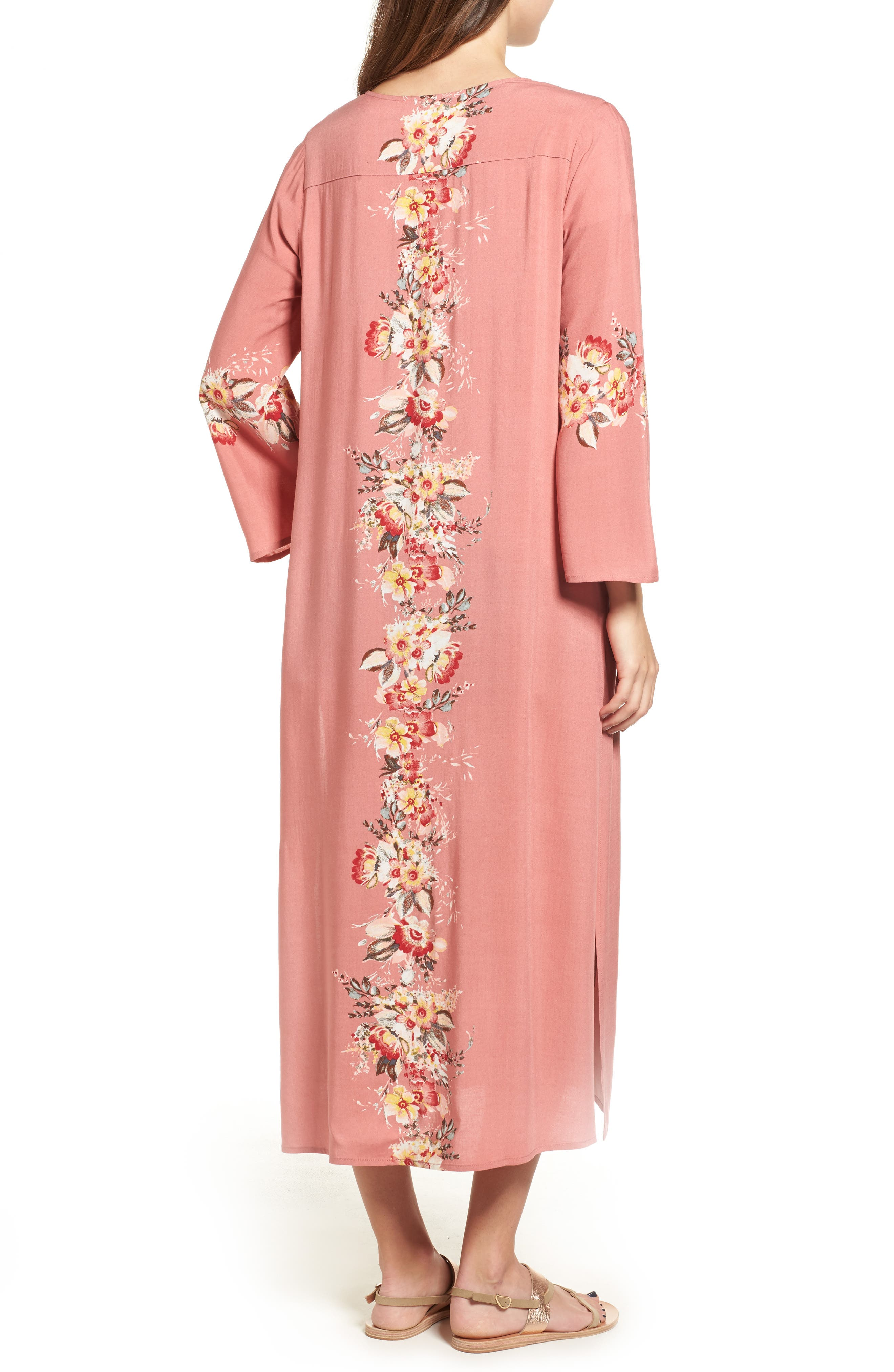 Placed Floral Kimono,                             Alternate thumbnail 2, color,                             698