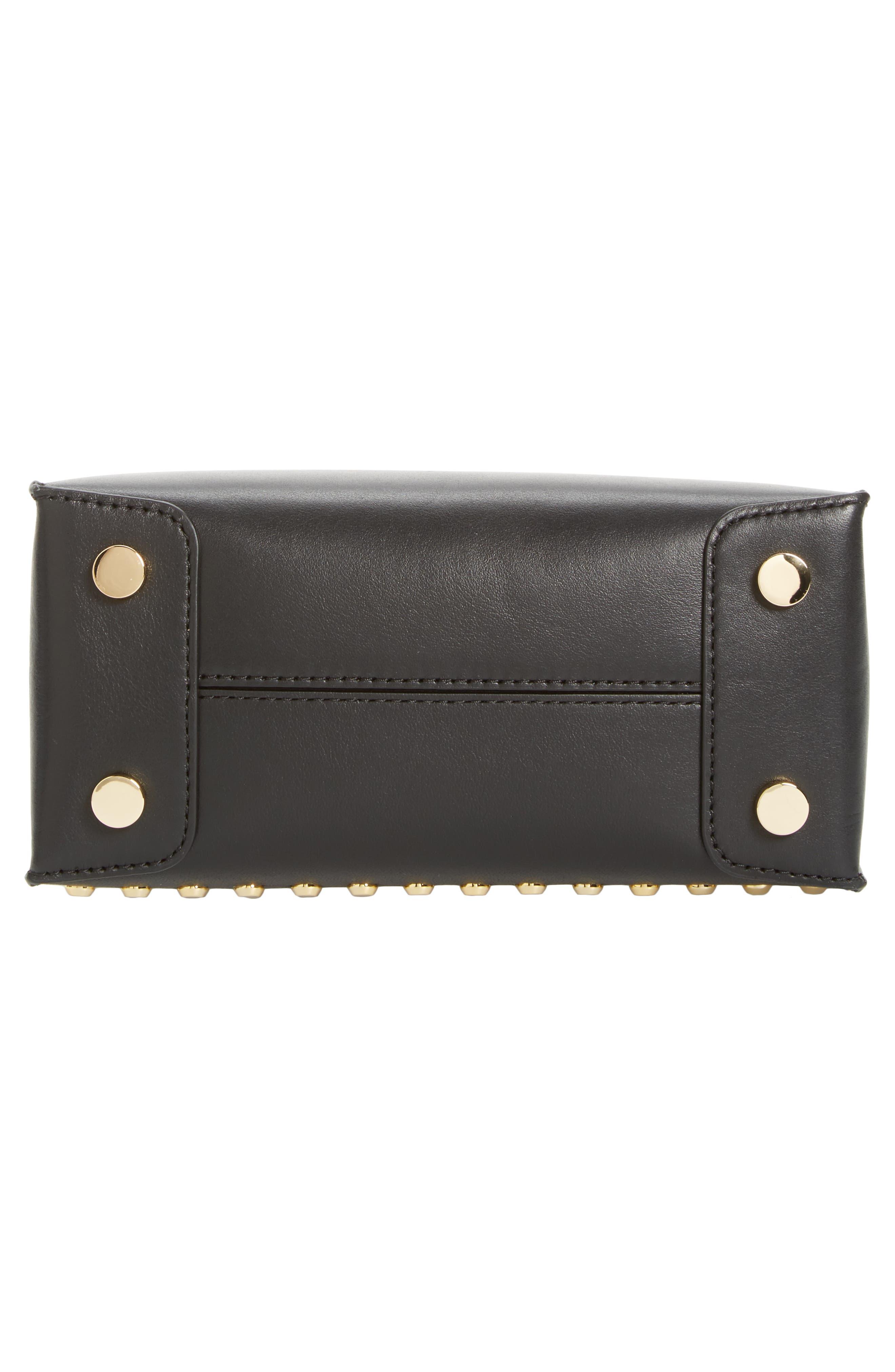 Medium Mercer Studded Leather Tote,                             Alternate thumbnail 6, color,                             001