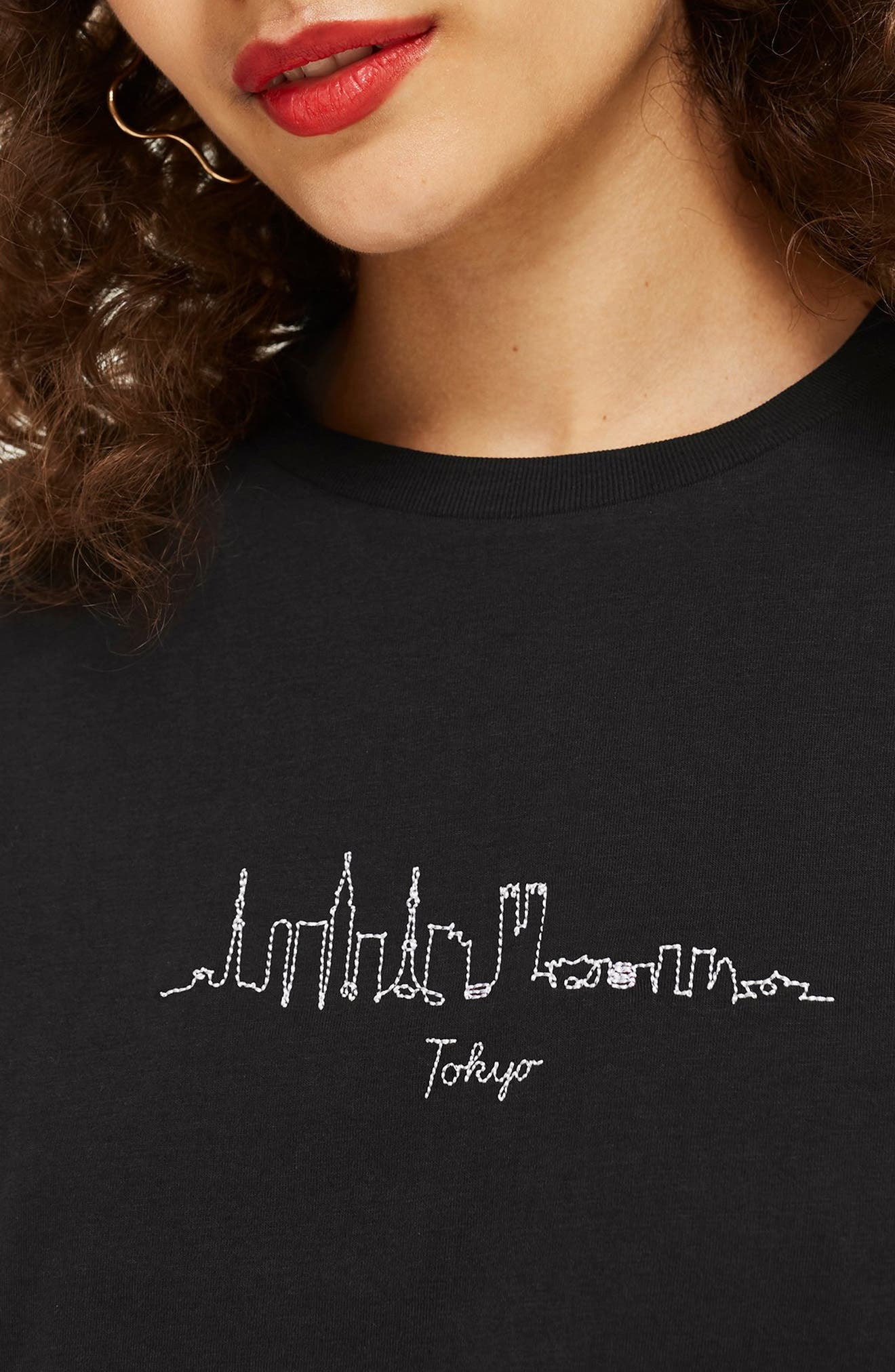 Skyline Tee,                             Alternate thumbnail 3, color,                             BLACK