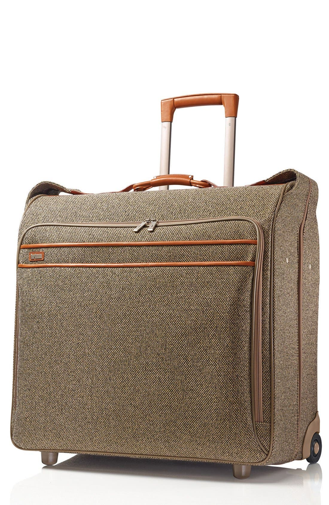 'Tweed Belting' Wheeled Garment Bag, Main, color, 217