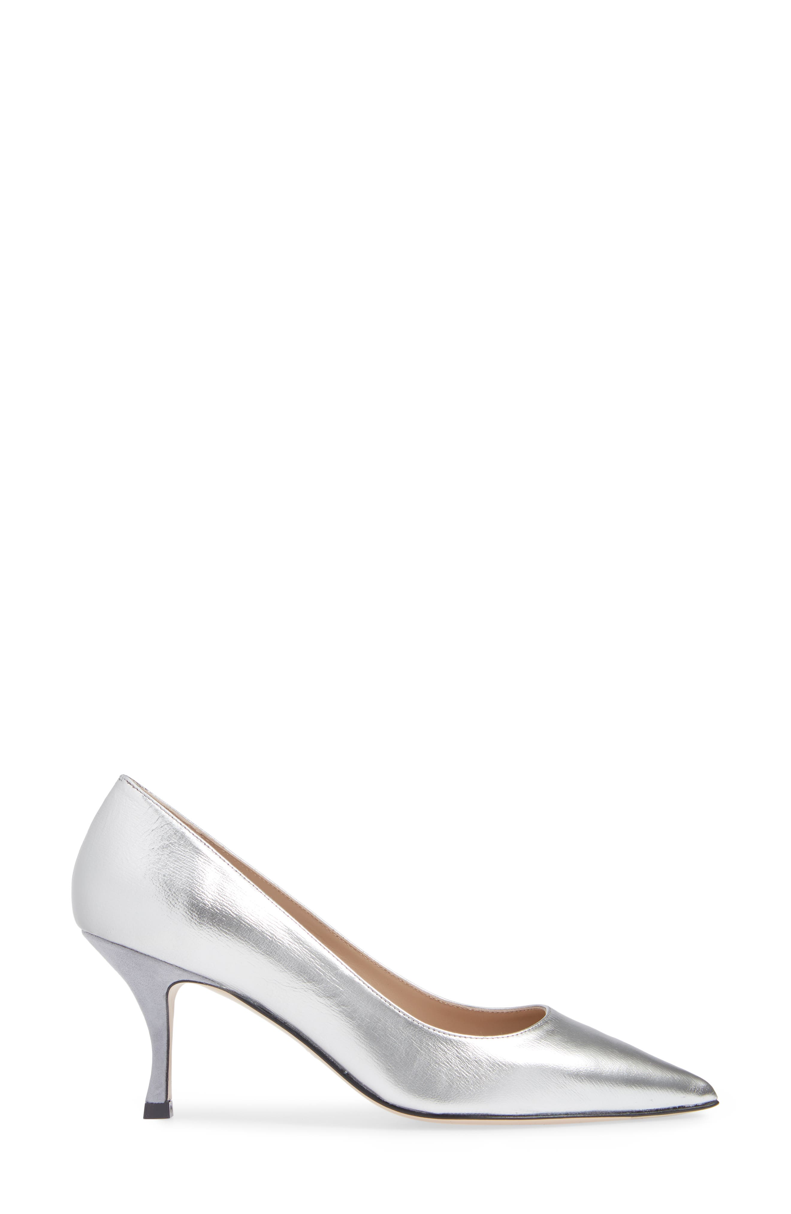 Tippi 70 Pointy Toe Pump,                             Alternate thumbnail 3, color,                             SILVER VENICE
