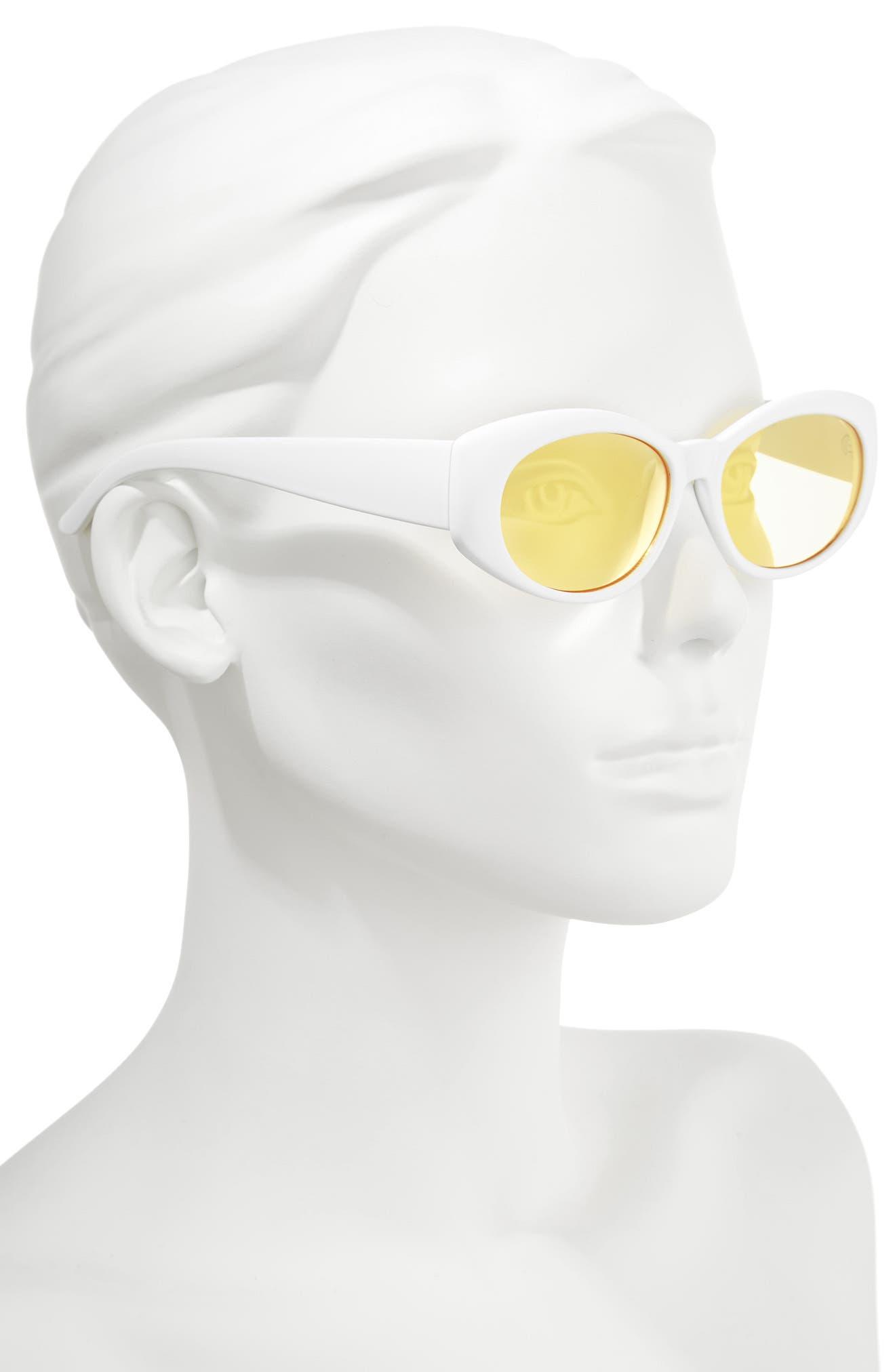 68mm Oval Sunglasses,                             Alternate thumbnail 2, color,                             102