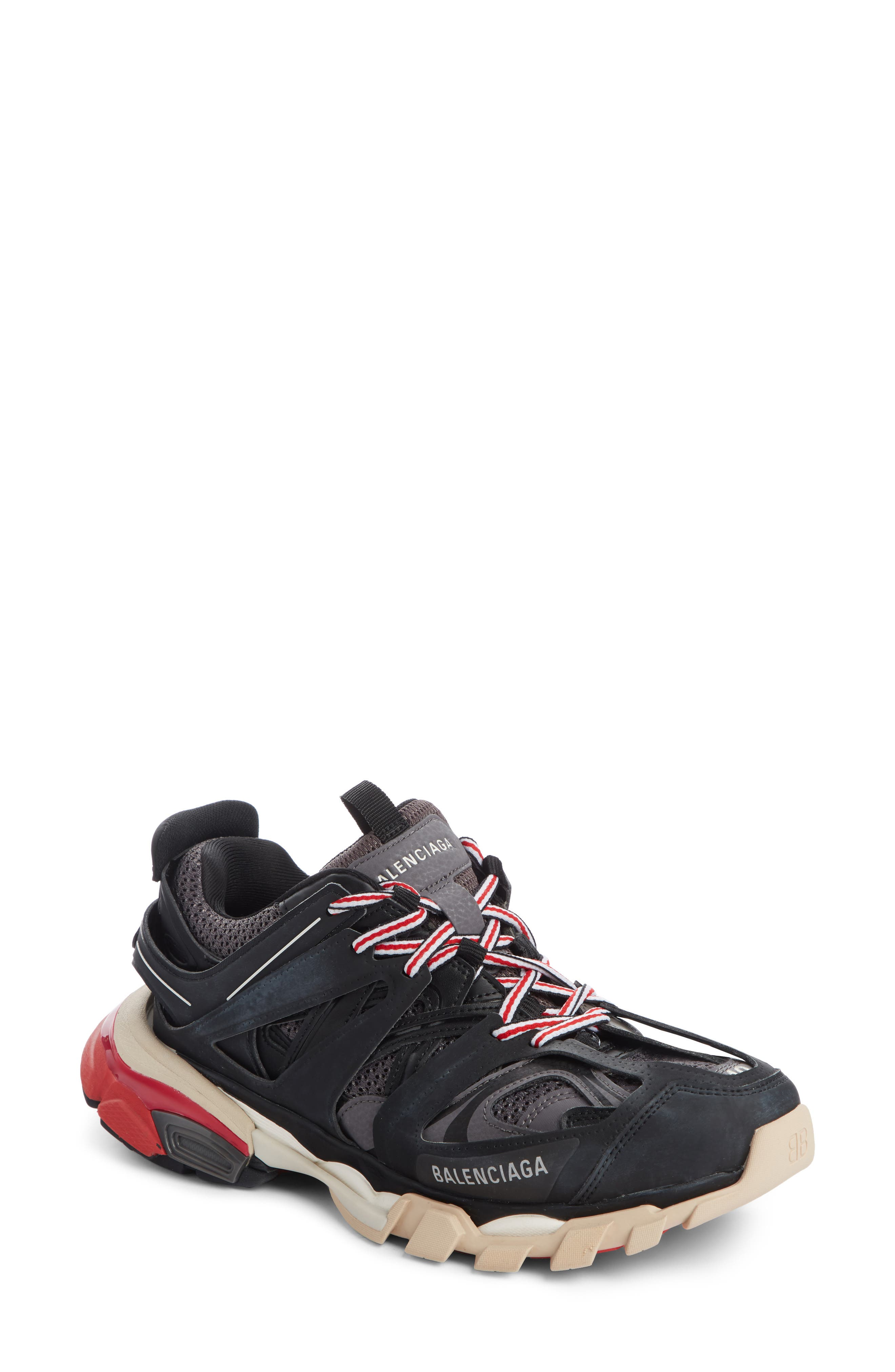 Track Colorblock Mixed Sneakers, Gris Noir in Black/ Grey