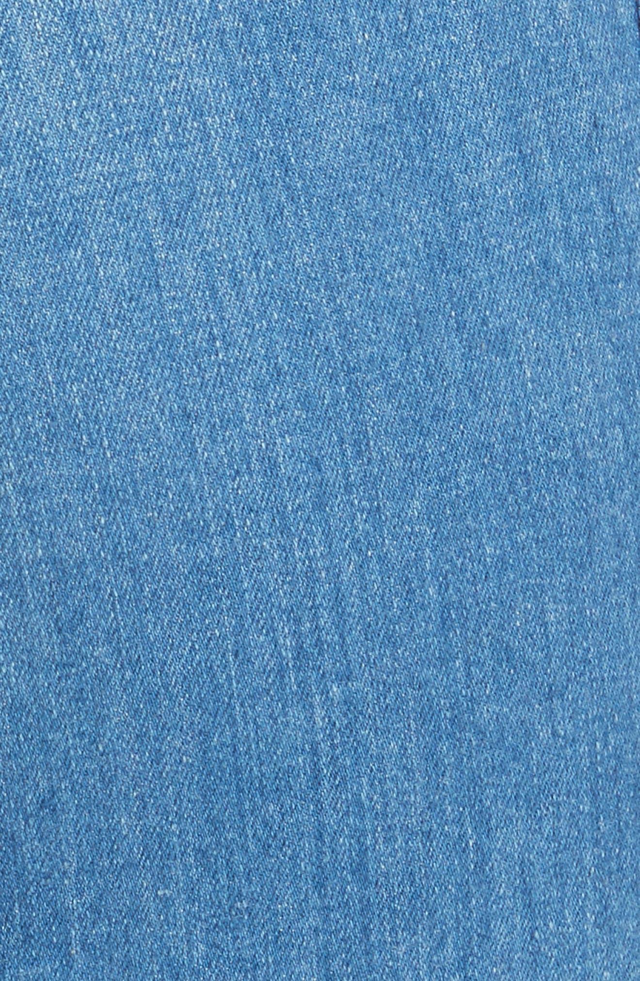 Farrah Wide Leg Jeans,                             Alternate thumbnail 5, color,                             400