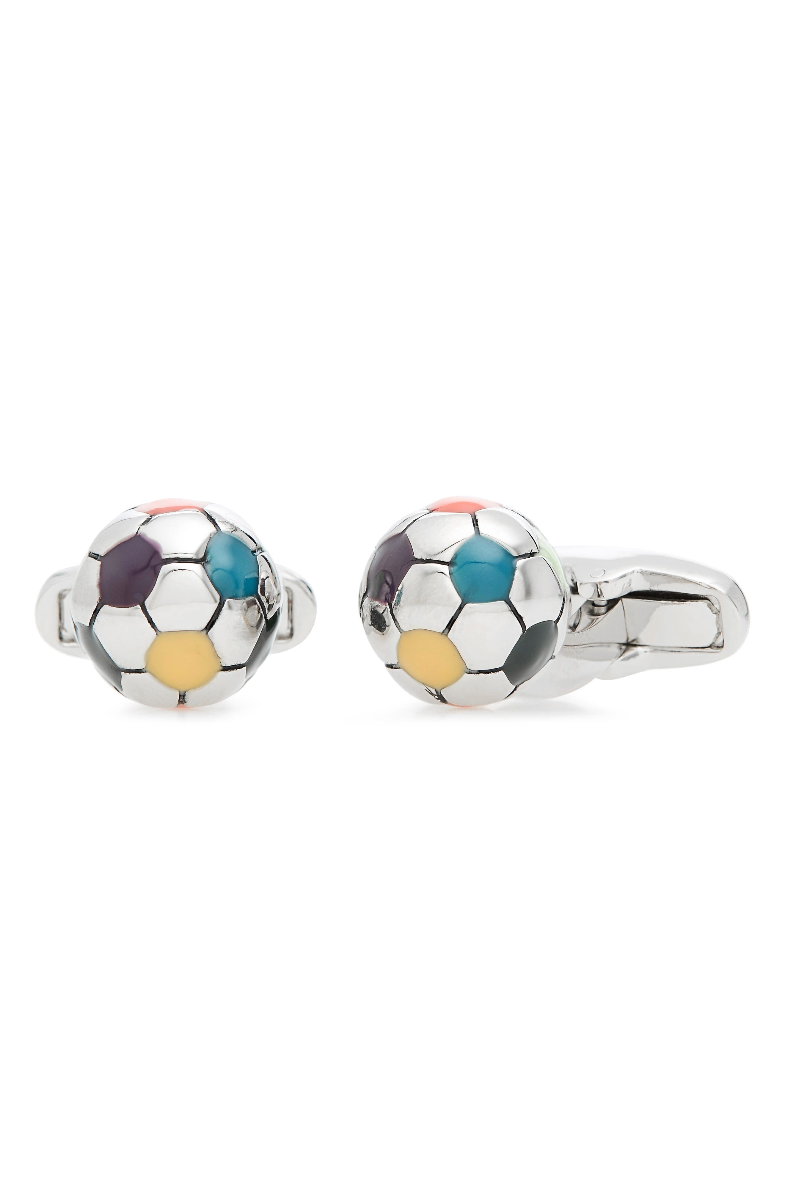 Football Cuff Links,                         Main,                         color, COPPER