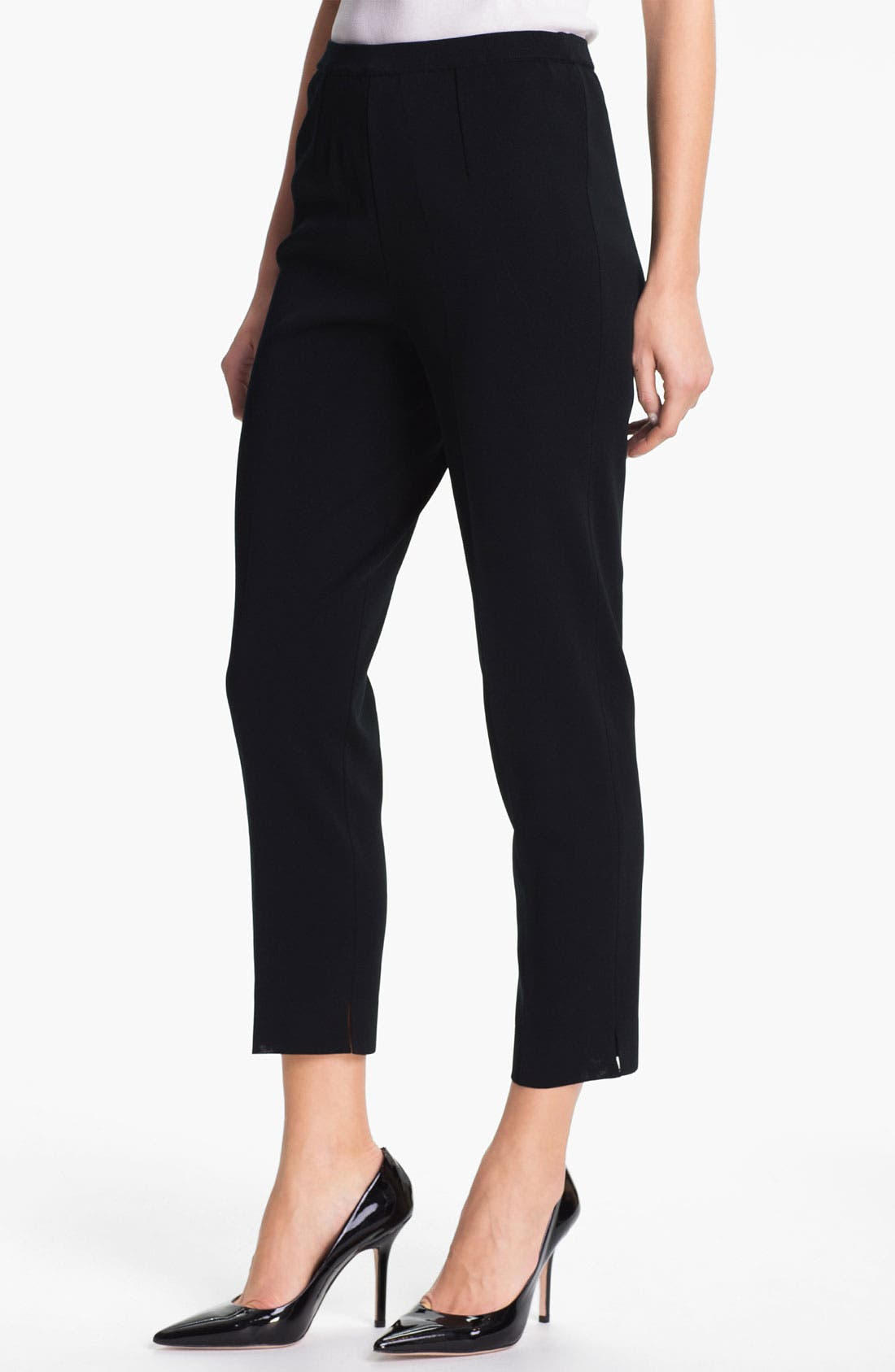 Pull-On Ankle Pants,                         Main,                         color, BLACK