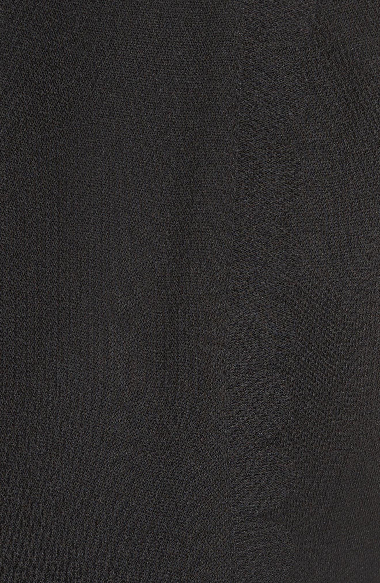 Scallop Trim Jumpsuit,                             Alternate thumbnail 5, color,                             001