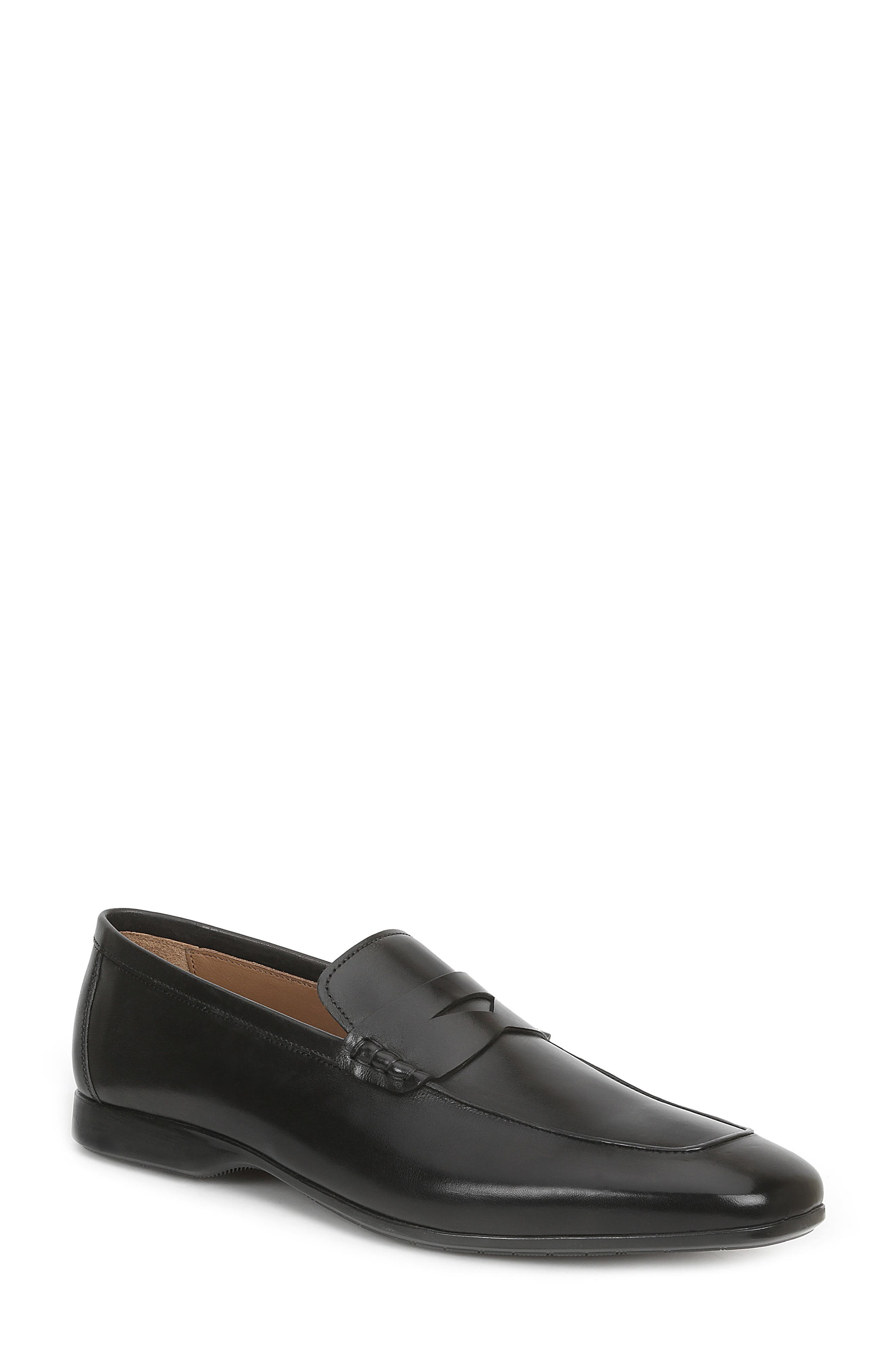 BRUNO MAGLI,                             Margot Penny Loafer,                             Main thumbnail 1, color,                             BLACK