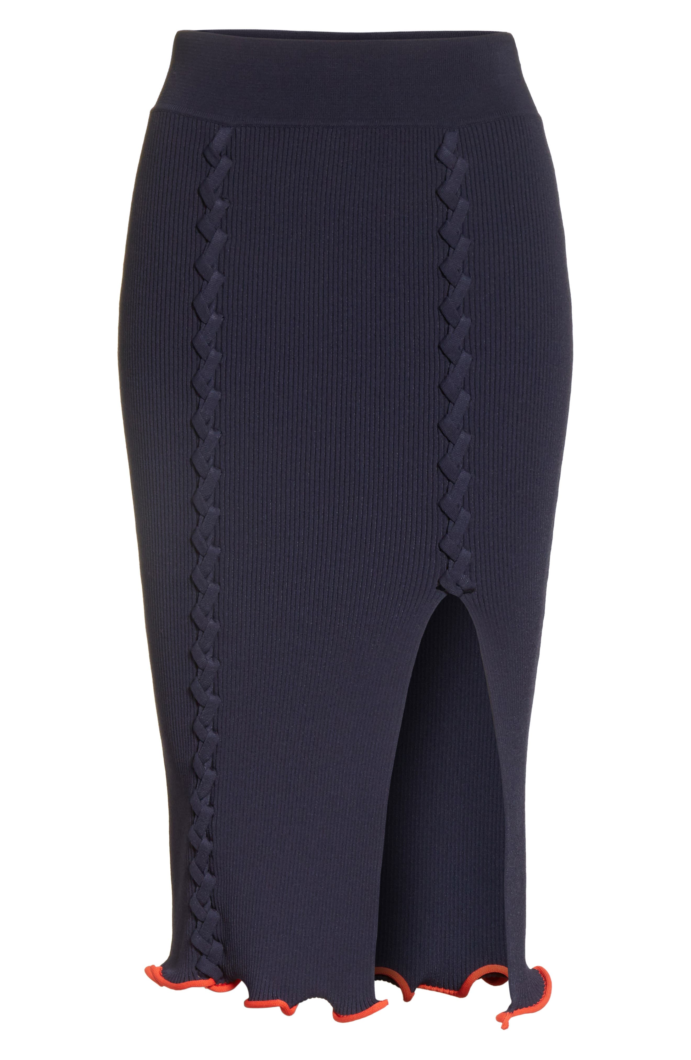 Criss Cross Pencil Skirt,                             Alternate thumbnail 6, color,                             412
