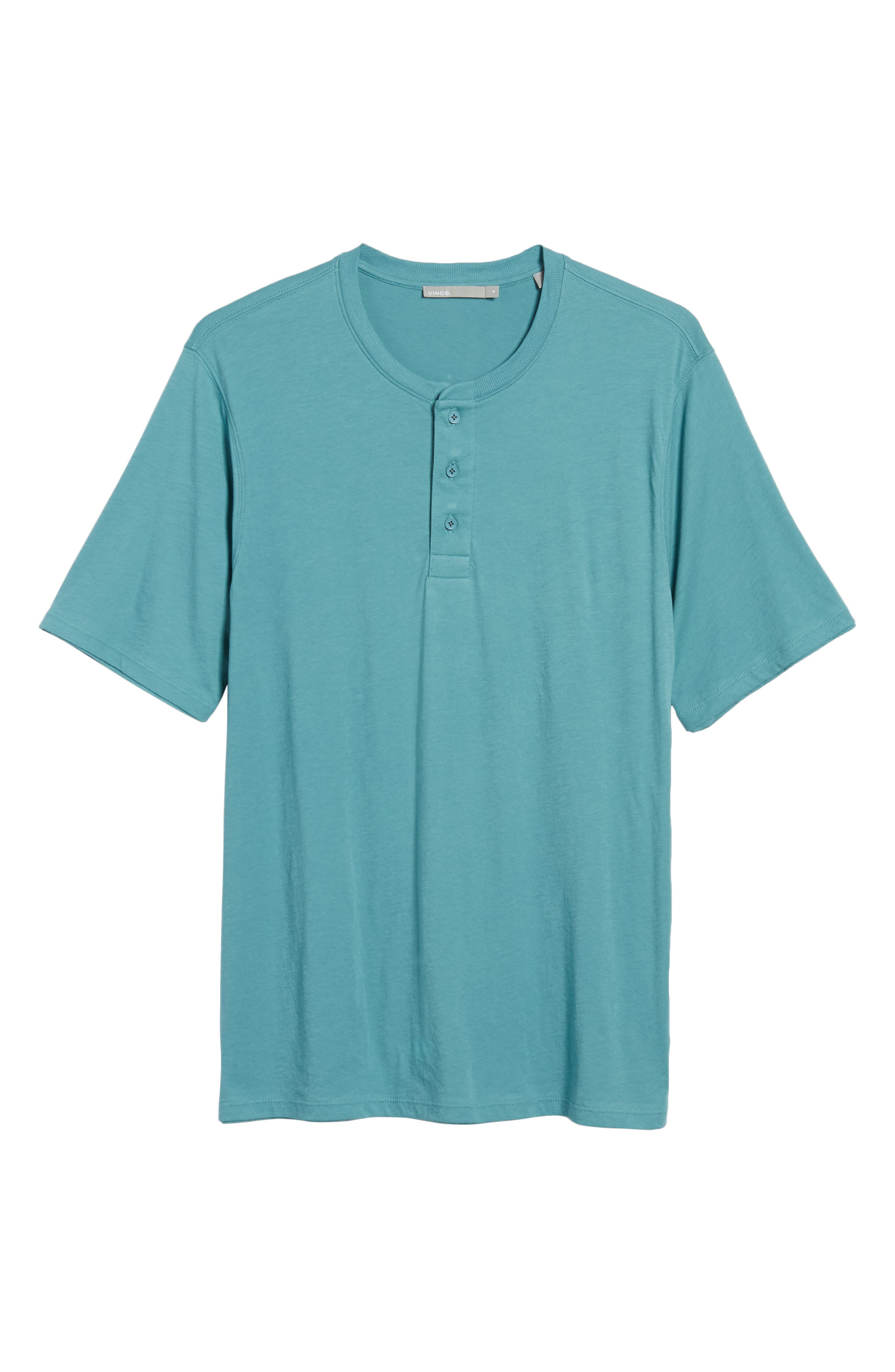 Layered Henley T-Shirt,                             Alternate thumbnail 6, color,                             HARBOR
