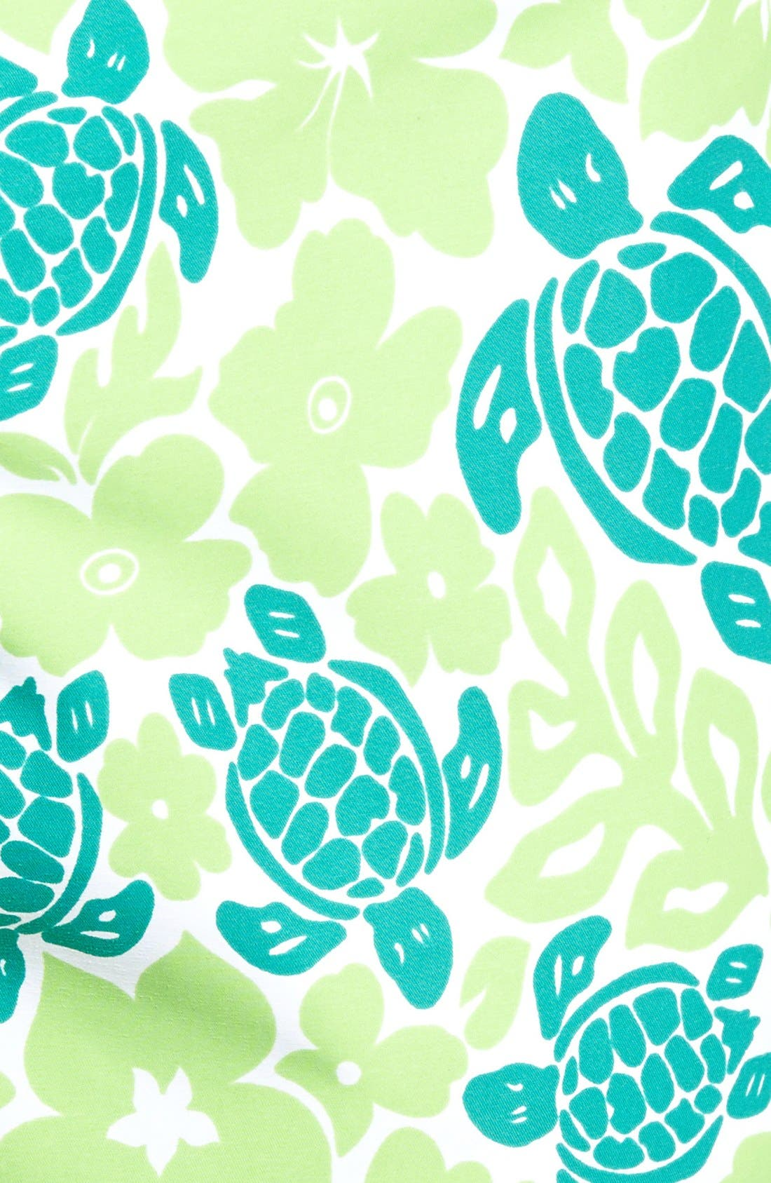 Hawaiian Turtle Print Swim Trunks,                             Alternate thumbnail 5, color,