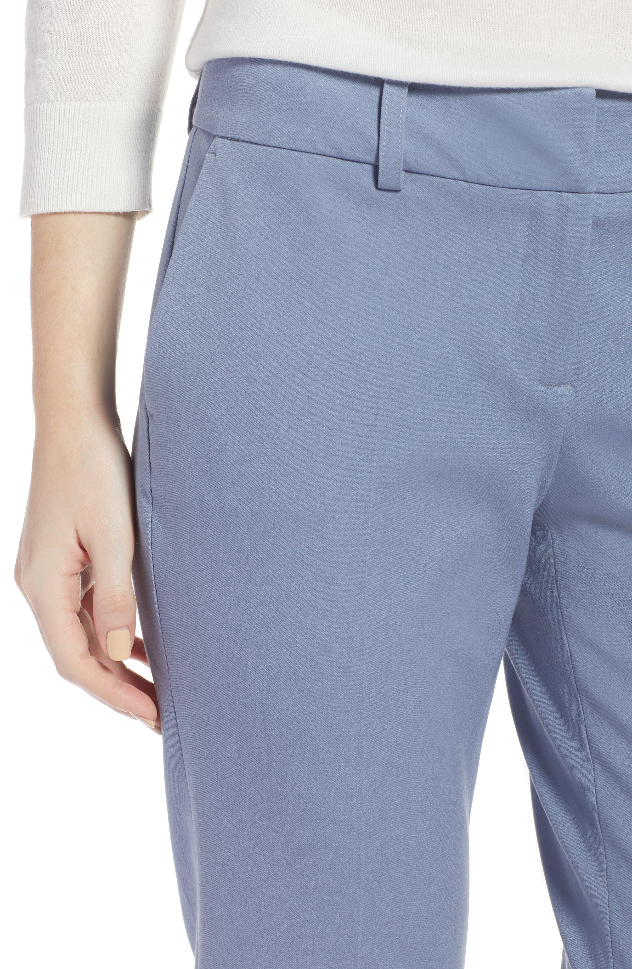 Crop Stretch Cotton Pants,                             Alternate thumbnail 68, color,