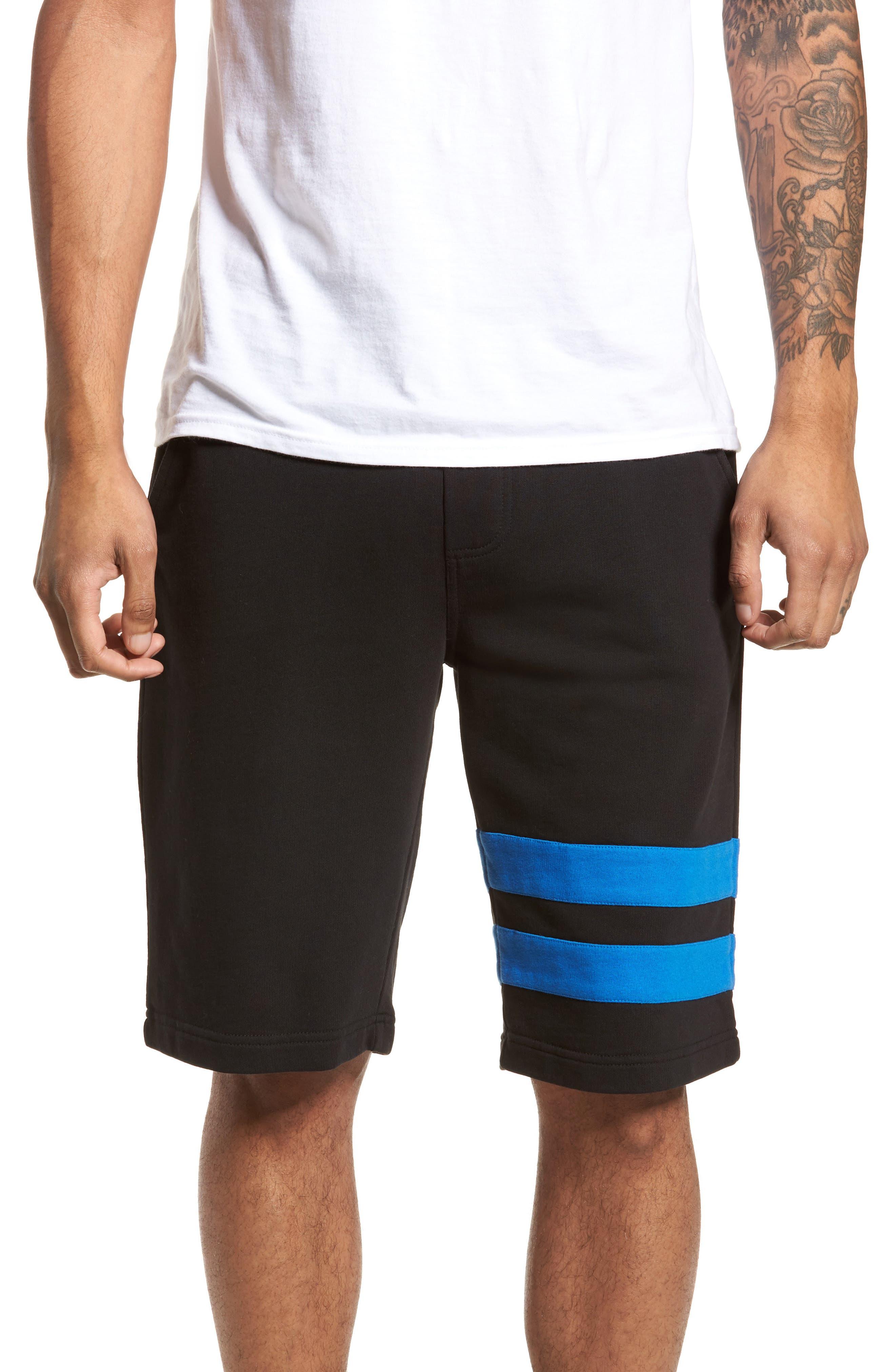 Stripe Athletic Shorts,                             Main thumbnail 1, color,                             010
