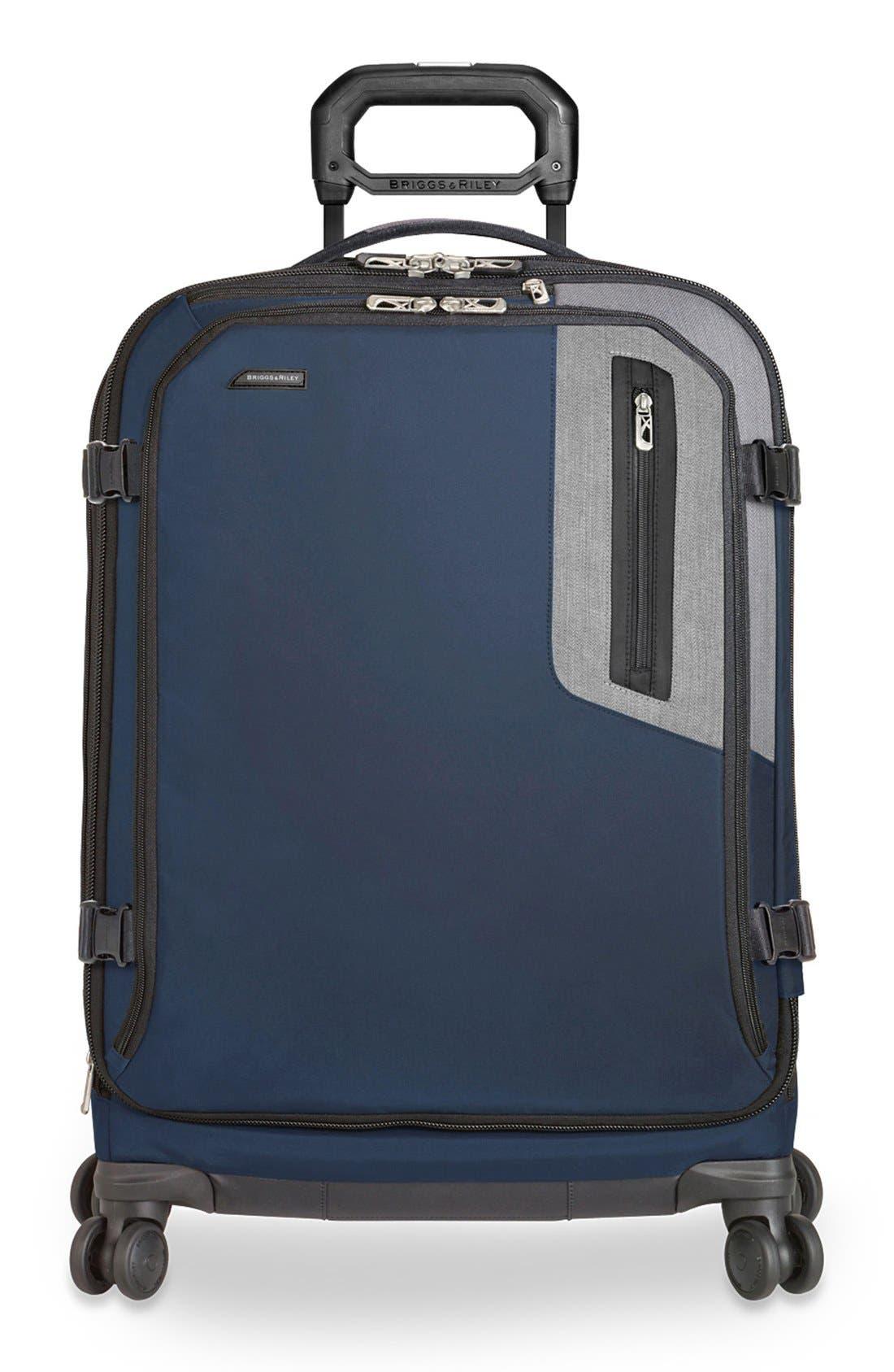 'BRX - Explore' Medium Expandable Wheeled Packing Case,                         Main,                         color, BLUE