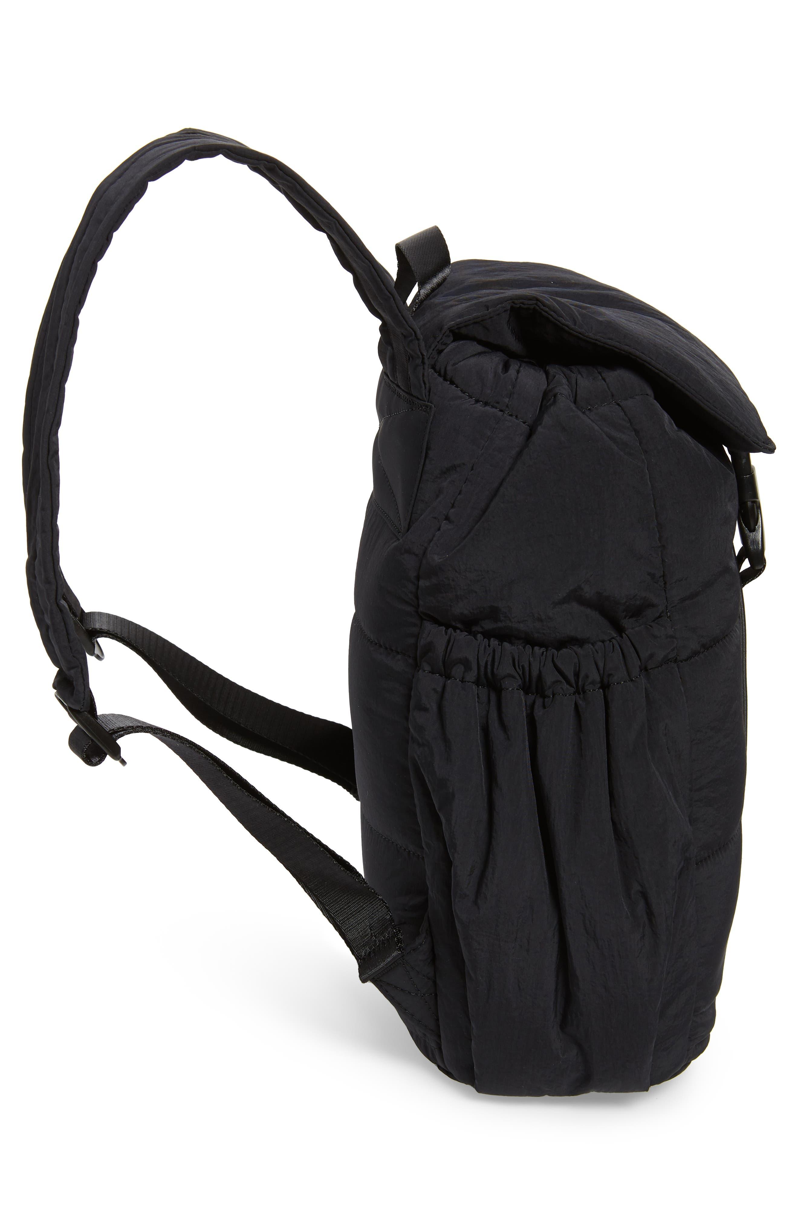 Teri Nylon Backpack,                             Alternate thumbnail 5, color,                             BLACK
